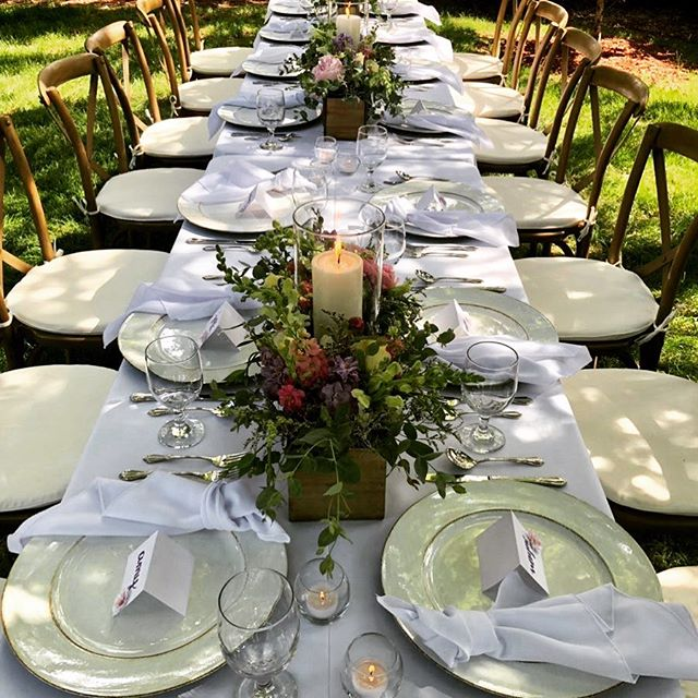 An Intimate dinner party for one of our favorite clients.  Happy birthday! #blissparties #gardenparty