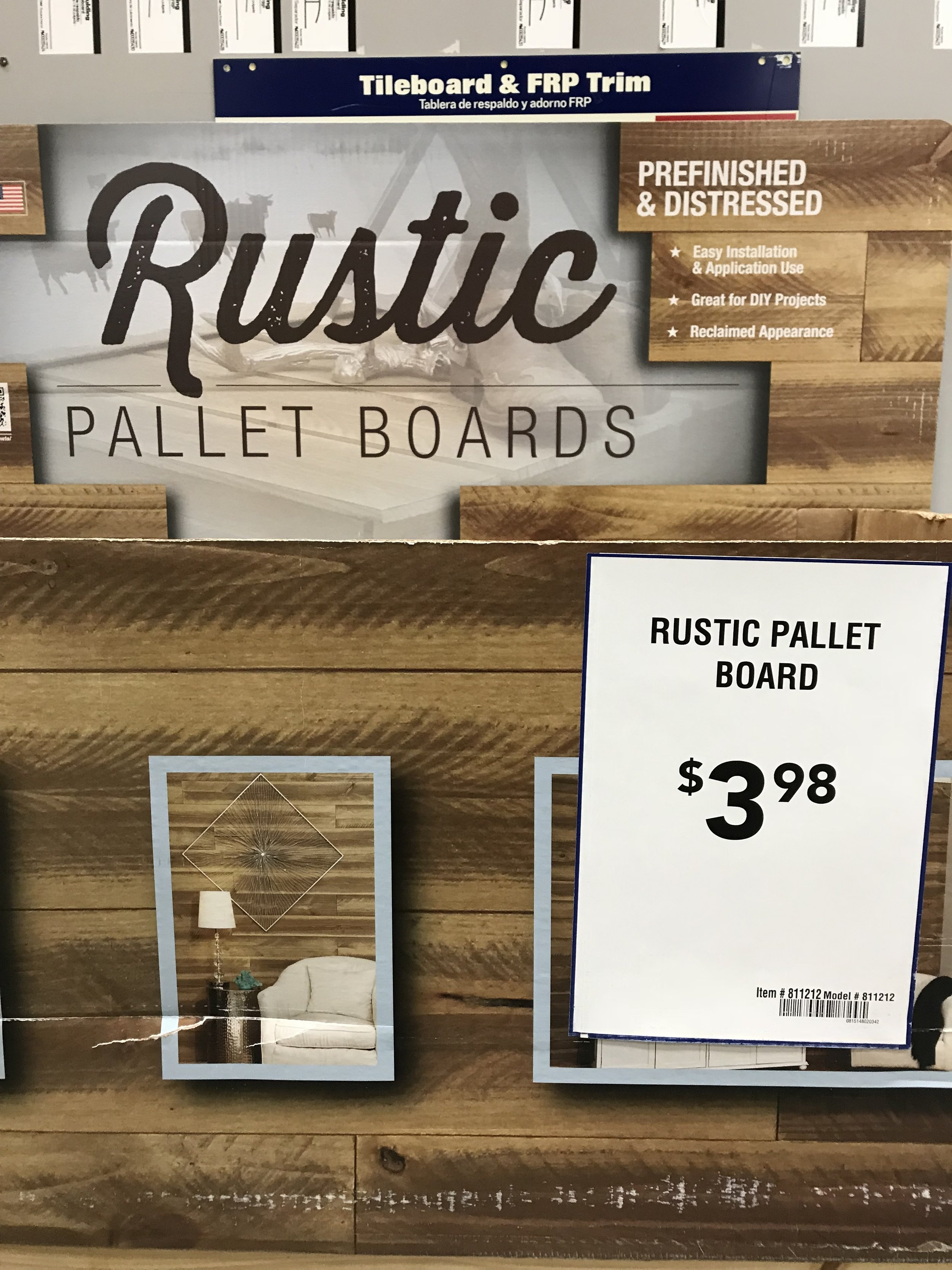 Jen Gilday Interiors - Rustic Pallet Boards from Lowes