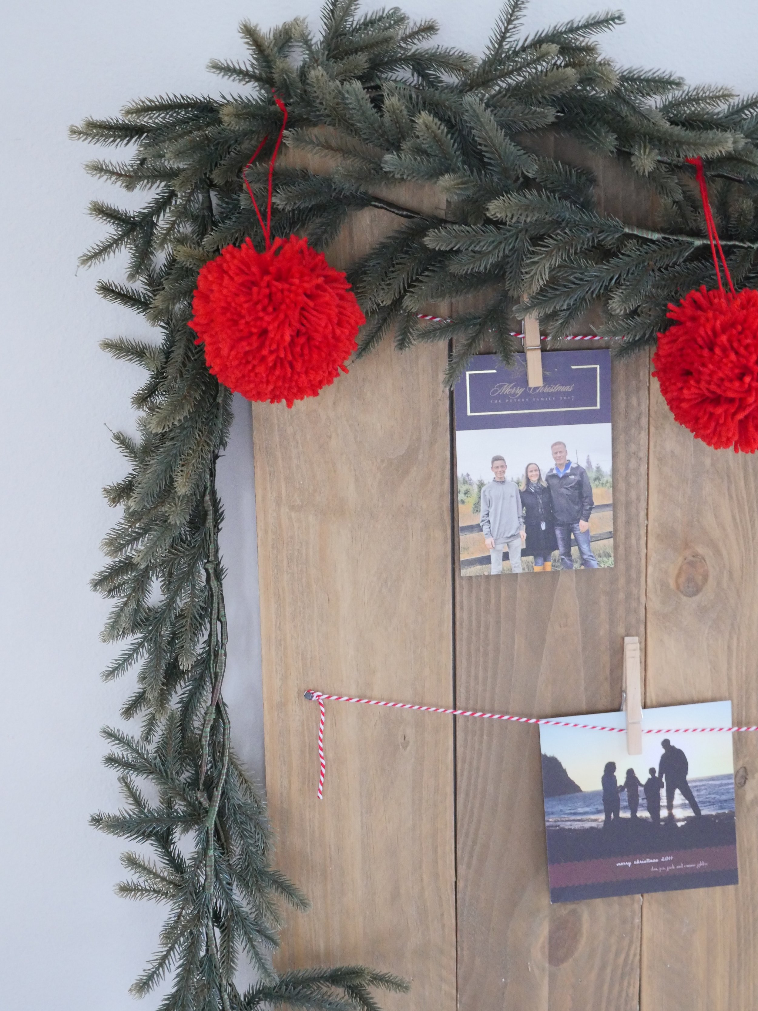 Jen Gilday Interiors - Christmas Card Display Board Tutorial