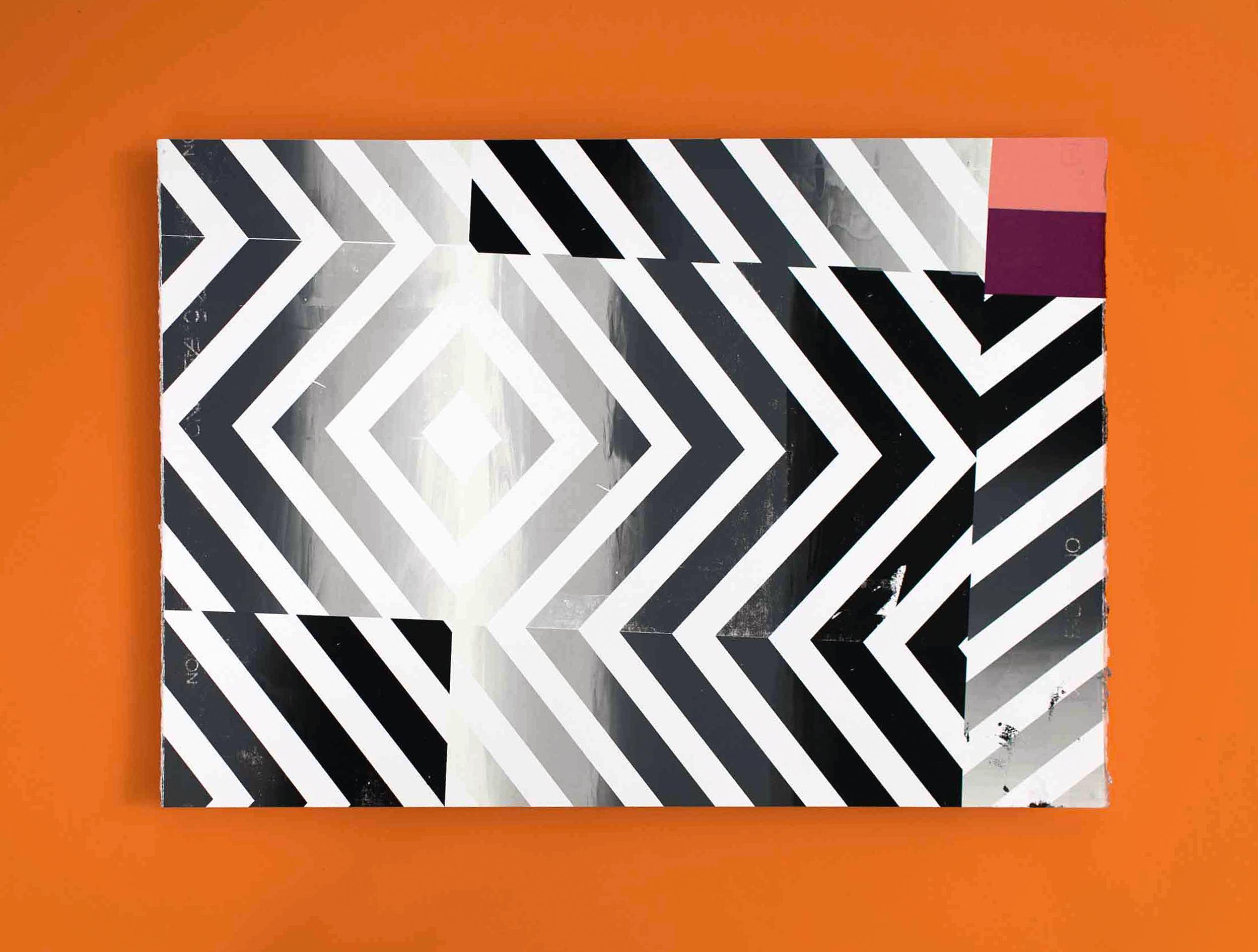 Chevron   Screenprint on 300gsm Fabriano 5 Paper  50x70cm  Edition: 1  POA
