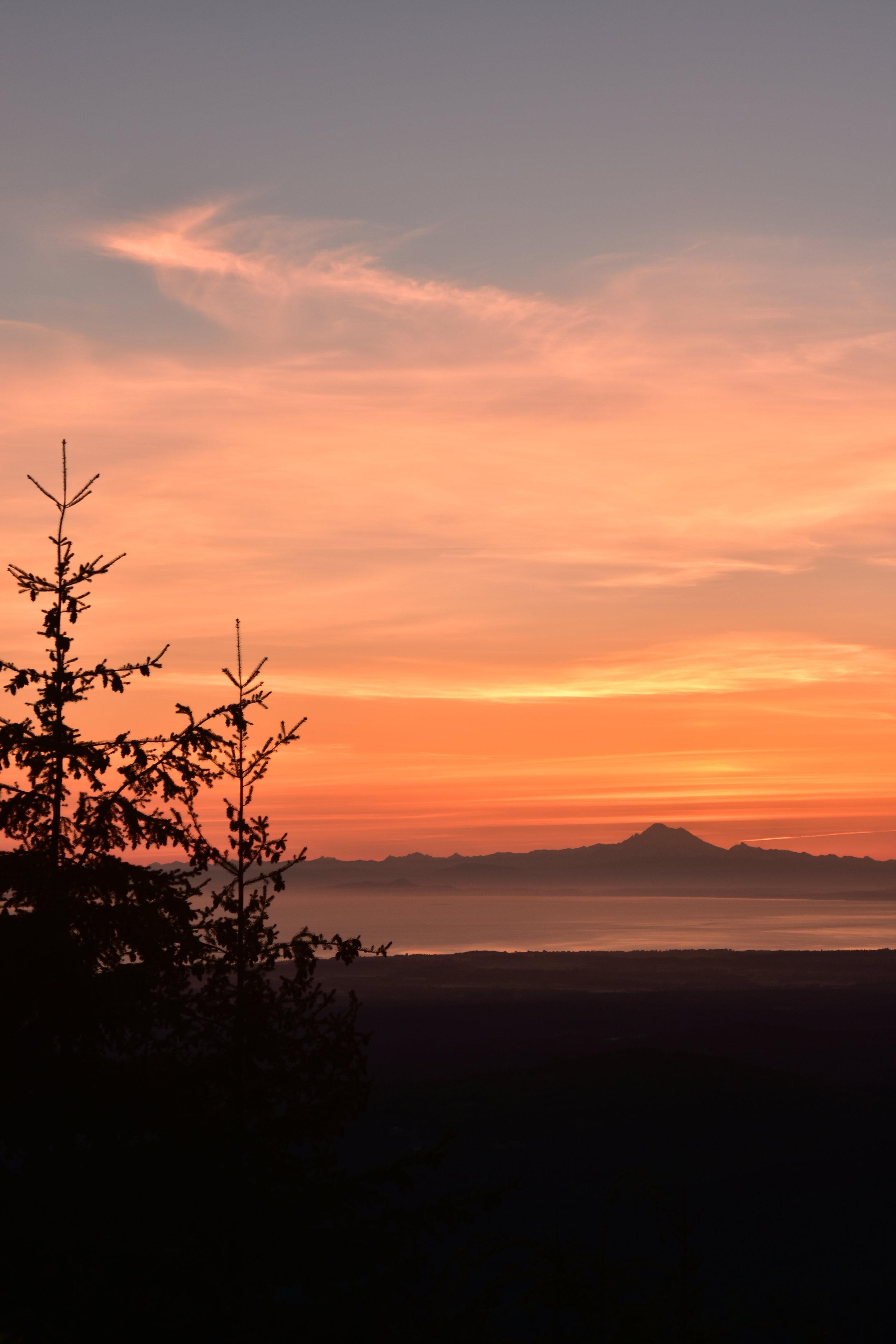 Mt. Baker at 5:00am