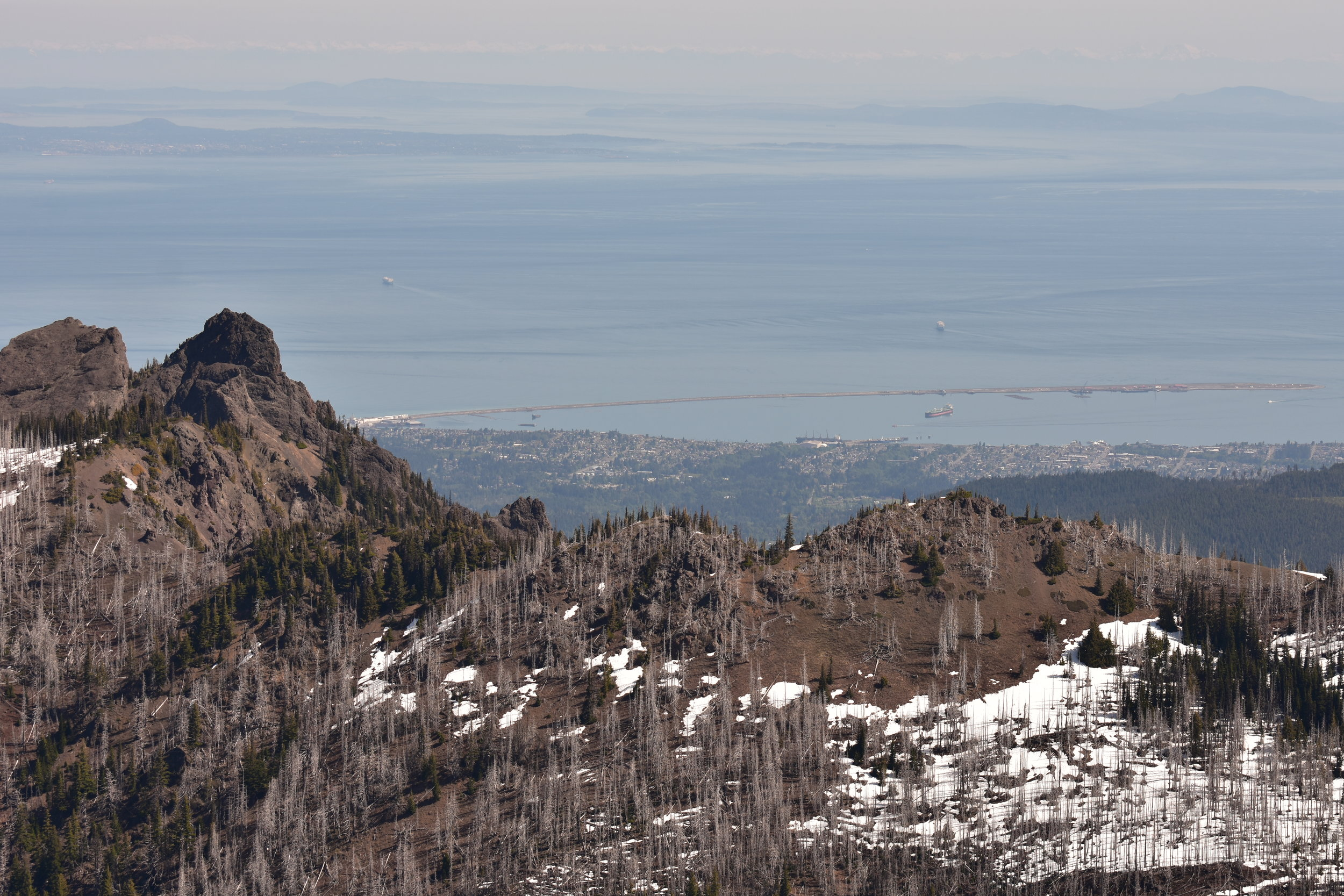 Nearest to Furthest: Unicorn Peak, Port Angeles, Victoria, Canadian Cascades