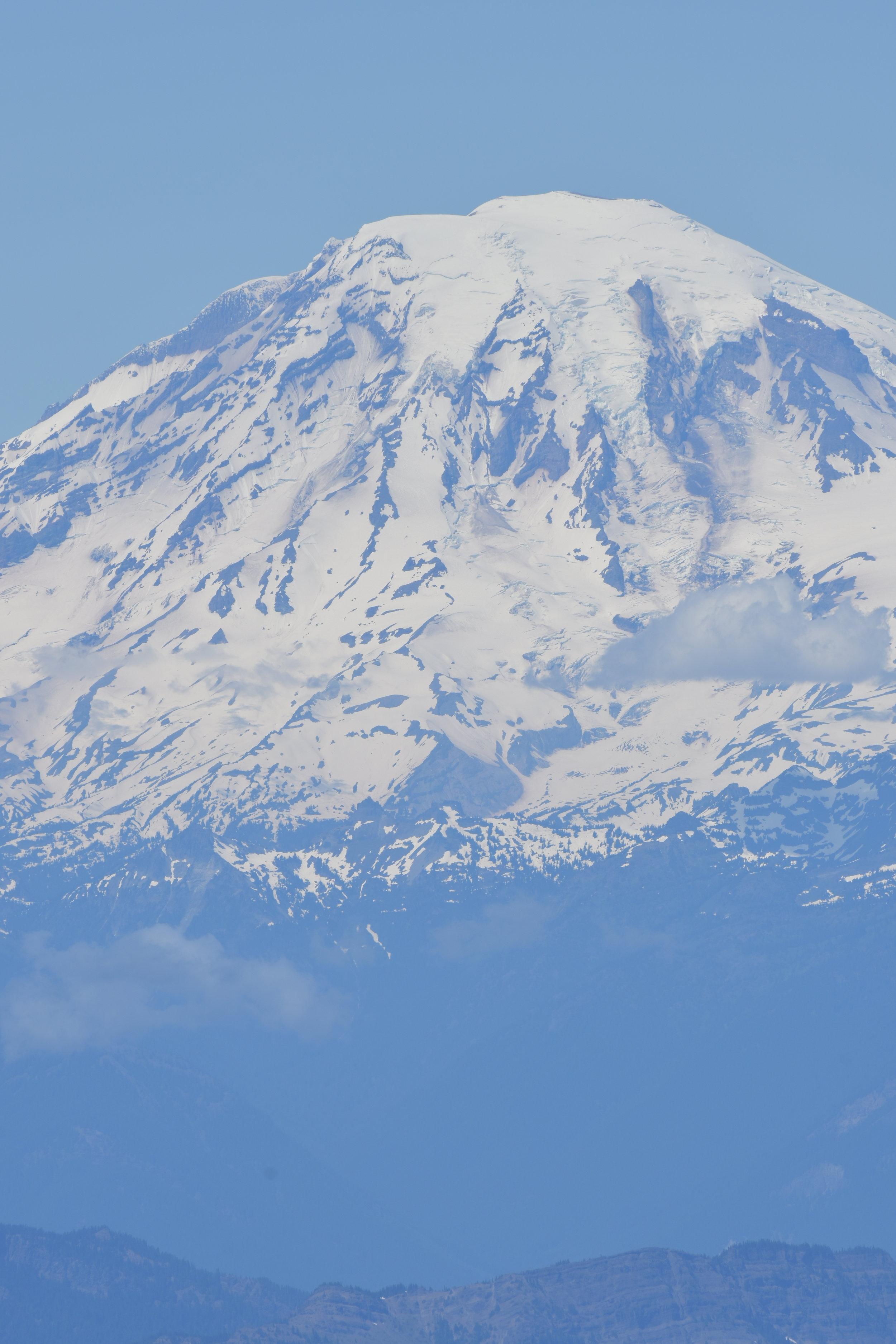 Fun frame with Mt. Rainier from Mt. Adams