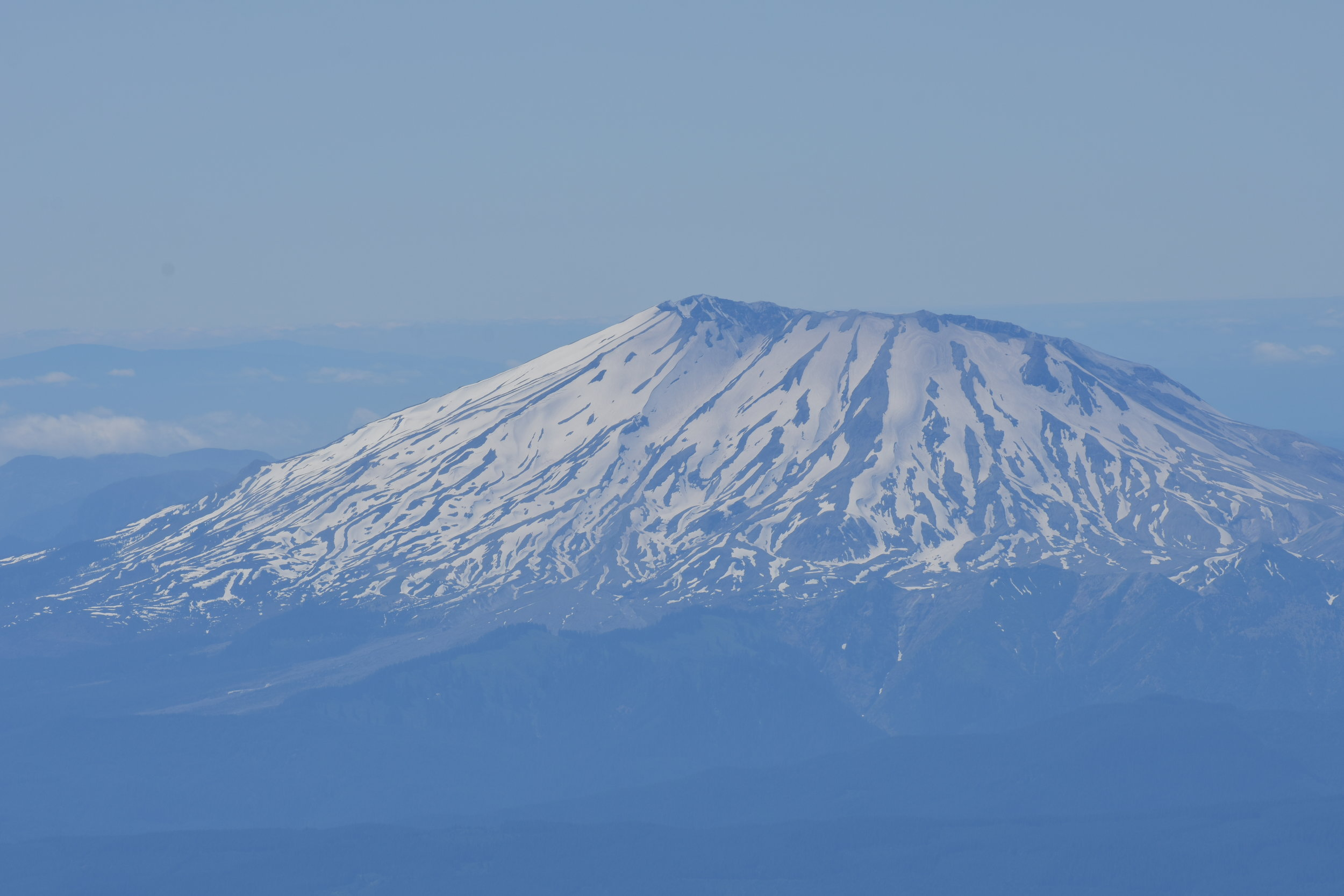 Mt. Saint Helens; such a strange distribution of snow