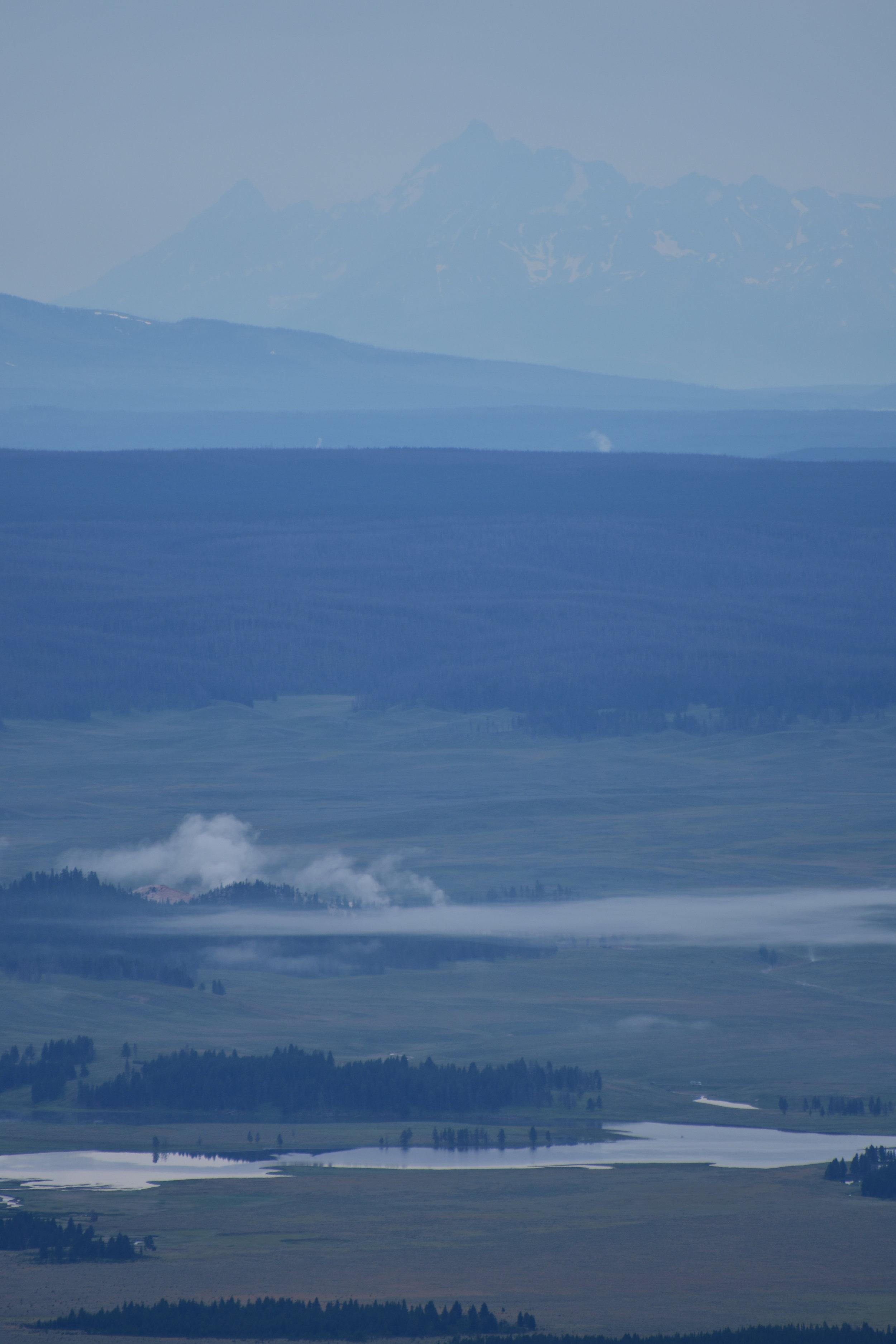 Tetons overlooking Yellowstone