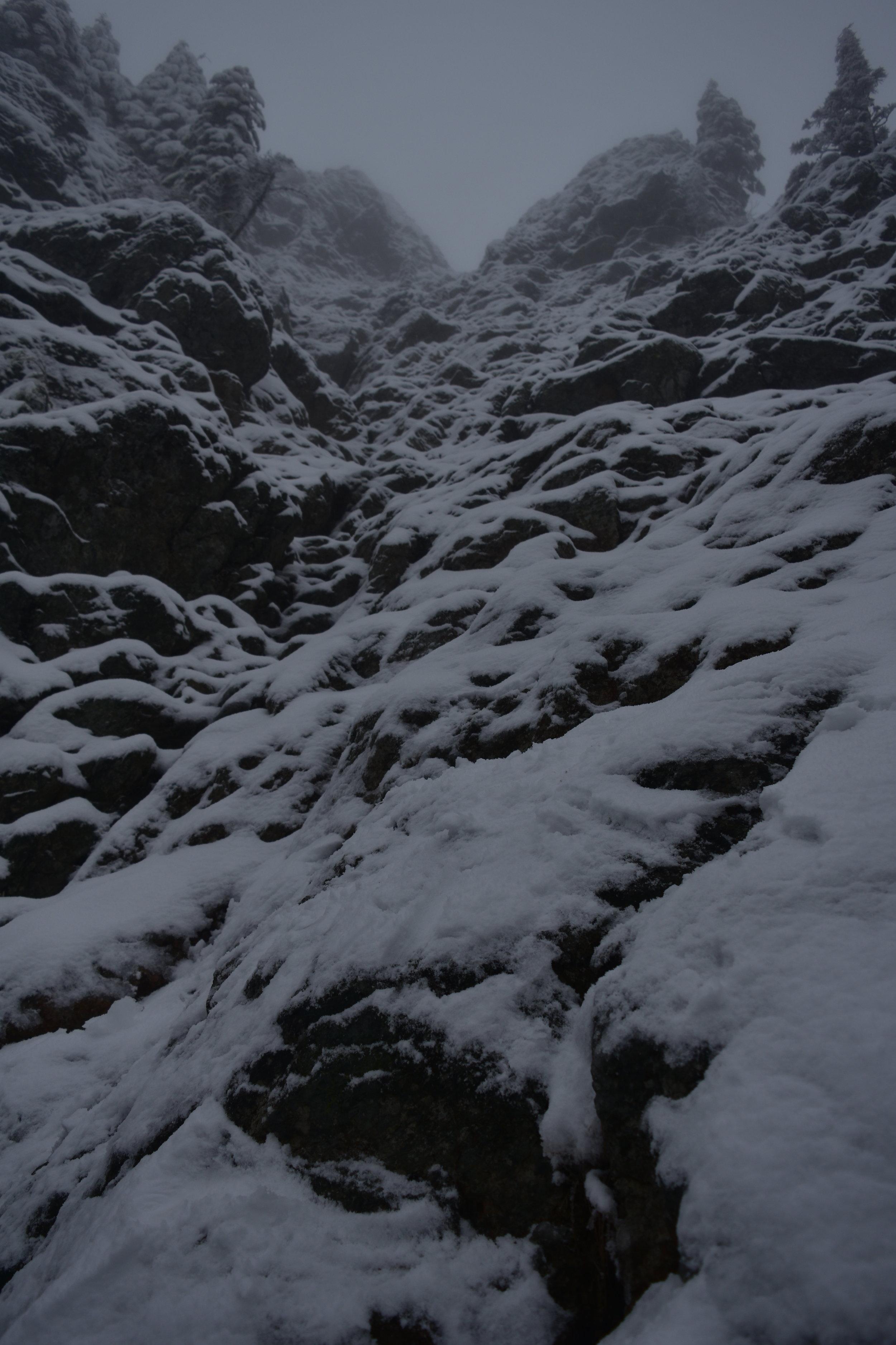 Part way up Haystack looking upwards and onwards