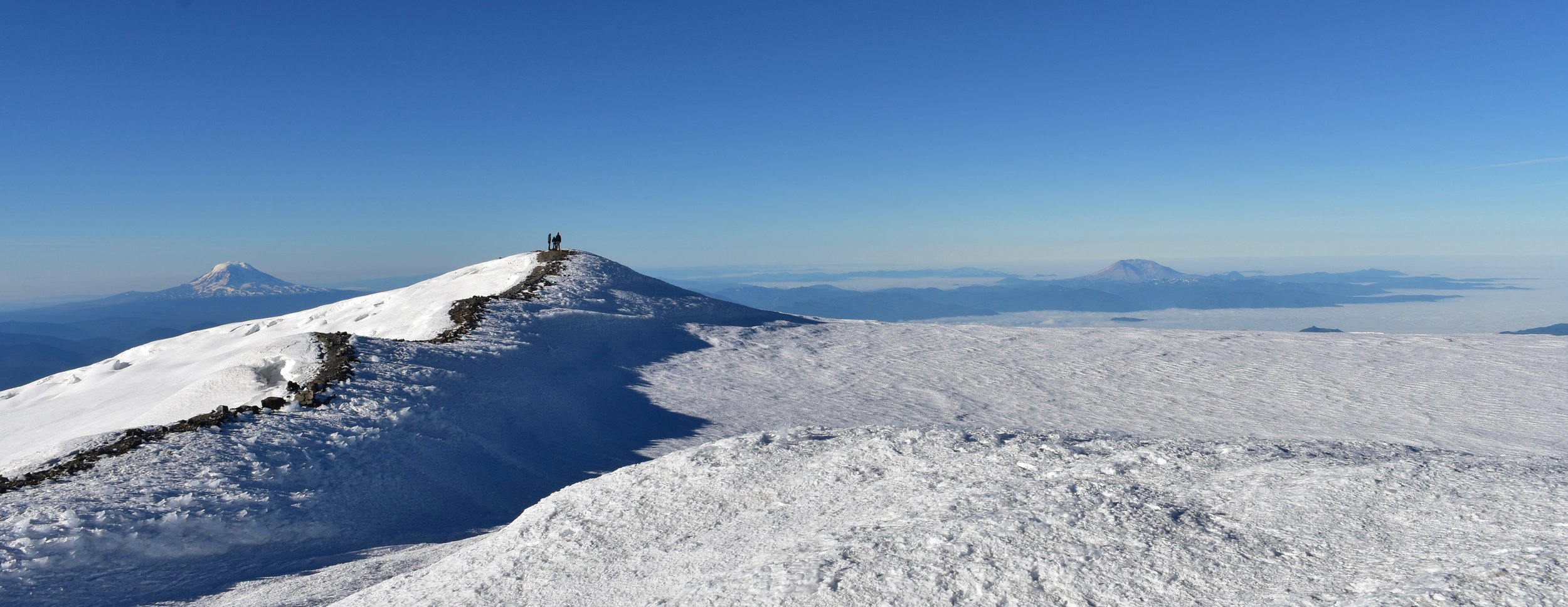 Adams->Rainier Summit->St. Helens