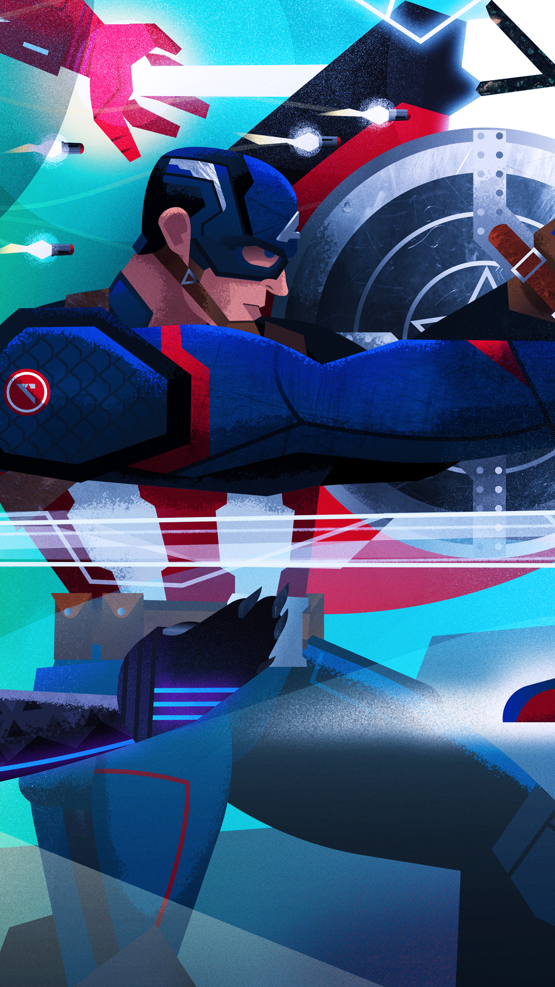 "Captain America (Detail/iPhone Wallpaper)  Mobile View: Lightly hold the image with your thumb > ""Save Image"" > Enjoy!"