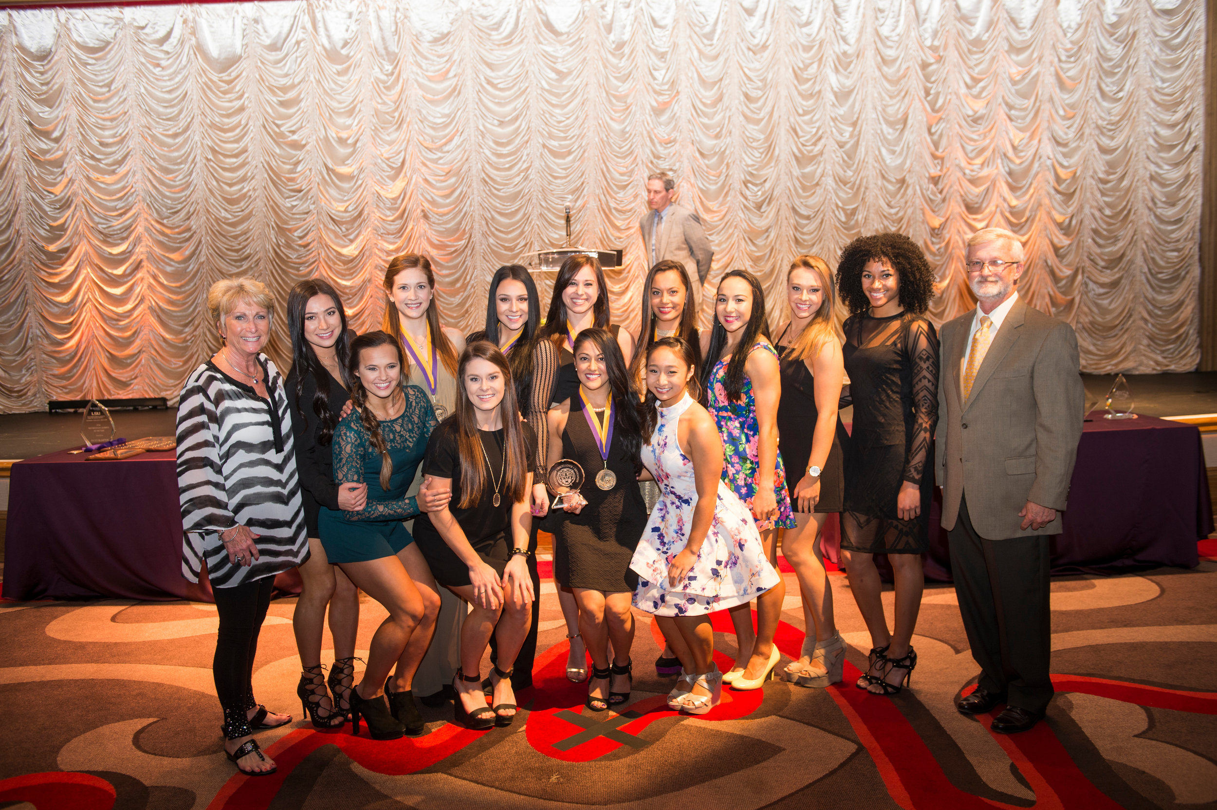 The 2015 team earned the Tiger Cup and Community Service Awards at the LSU Academic Gala for a third-straight year.