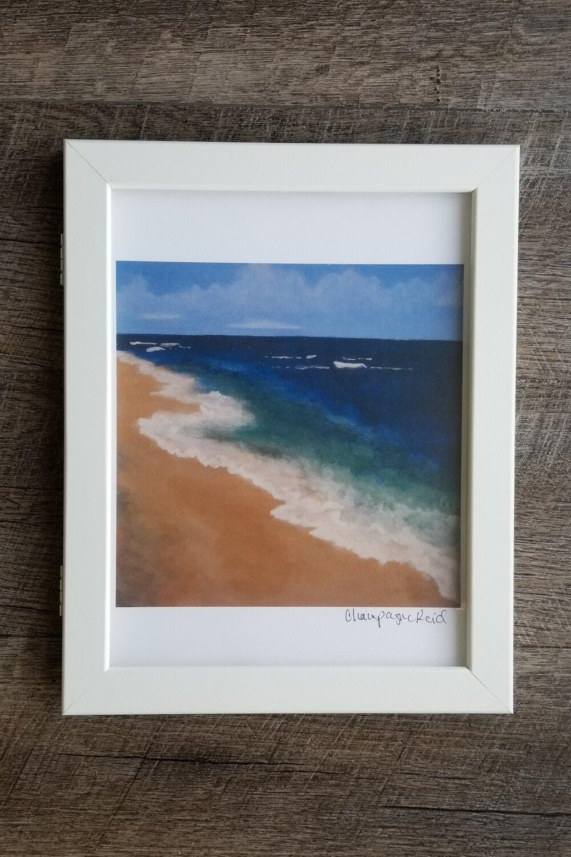 Mokuleia Beach Iii Art Print Champagne Reid