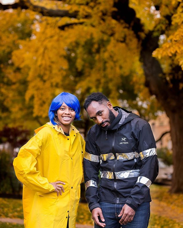 "Happy Halloween!! Coraline and ""Why were you born"", I mean Wybie! No matter how big or small the costume is, I will continue to dress up for my sister! It was always our favorite! #chantalphoto #newsharifintown"