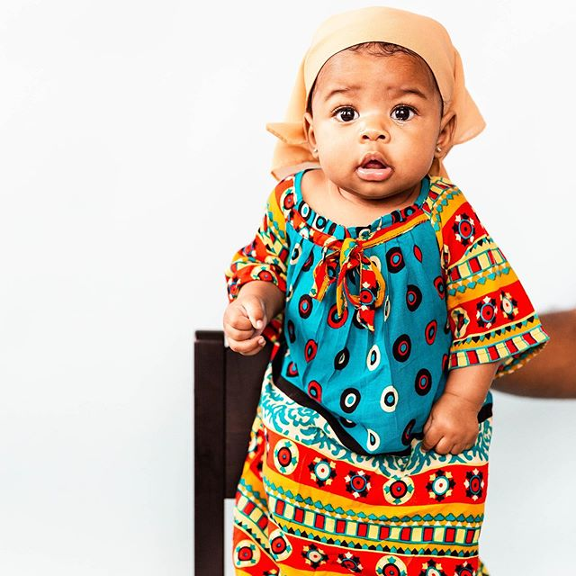 What better way to practice in a new natural light studio... that's my 4 month old in a Somali outfit. I think I'm going to max out my hard drives photographing her! #chantalphoto