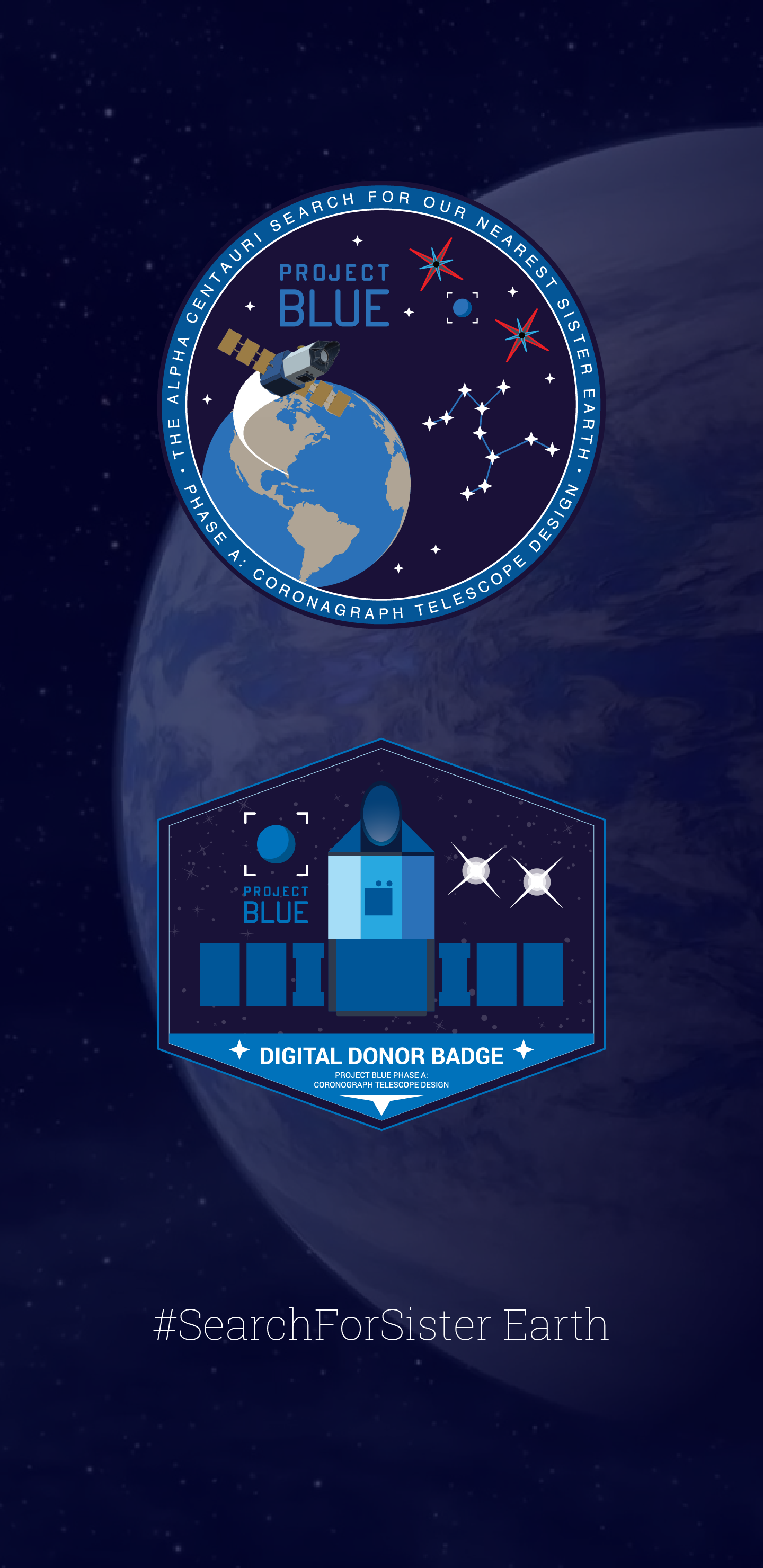 Project Blue Digital Donor Badge Mobile Wallpaper