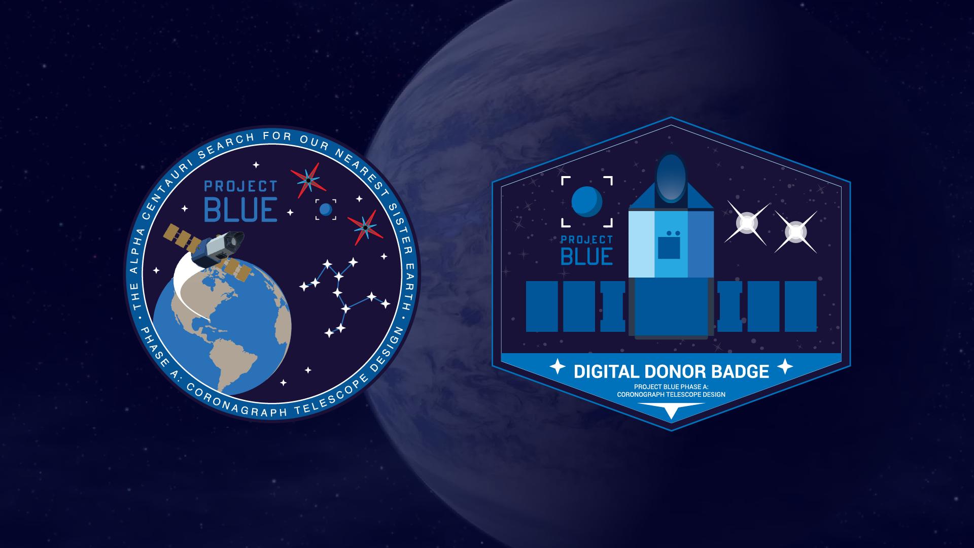 Project Blue Digital Donor Badge Widescreen Wallpaper