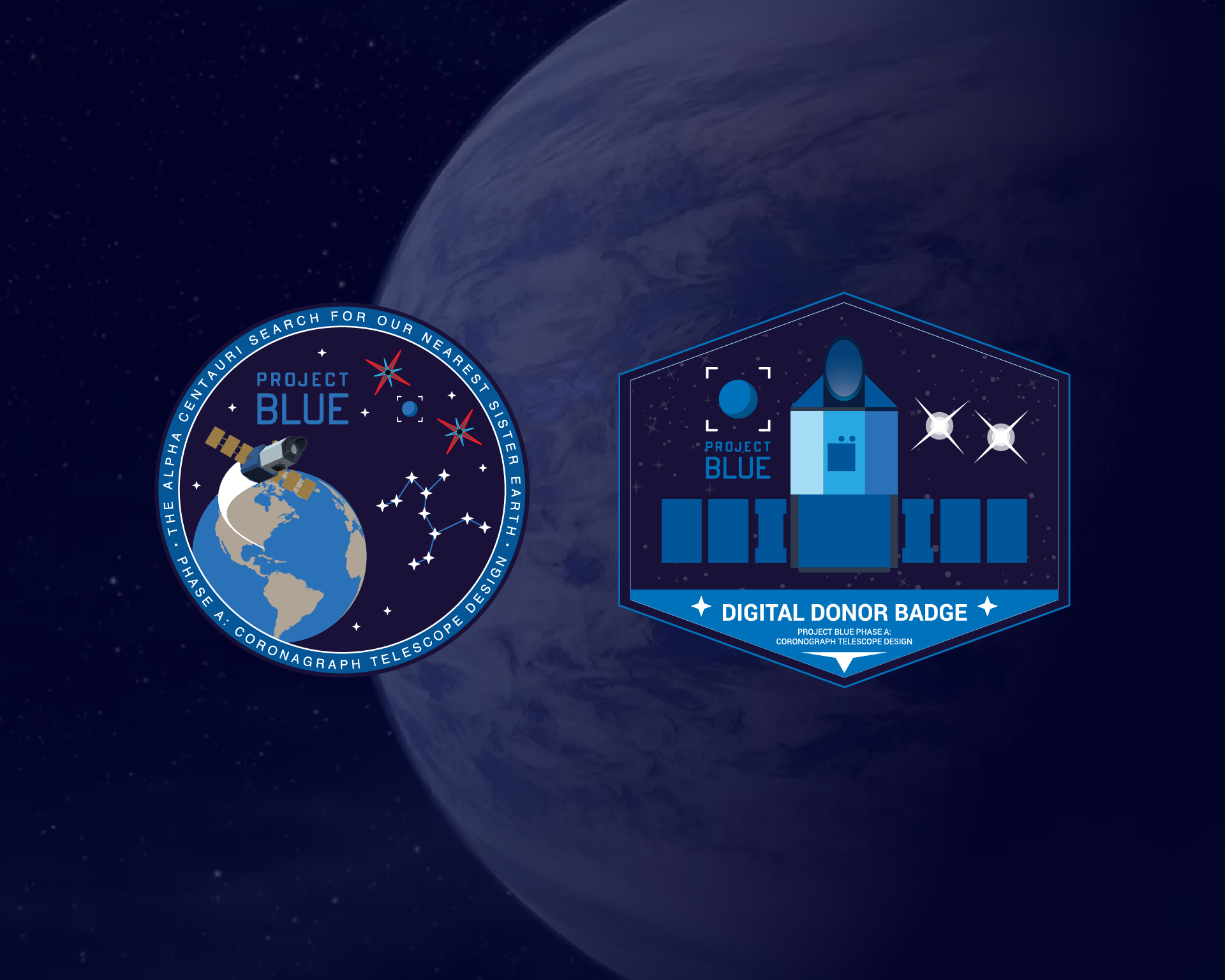 Project Blue Digital Donor Fullscreen Wallpaper