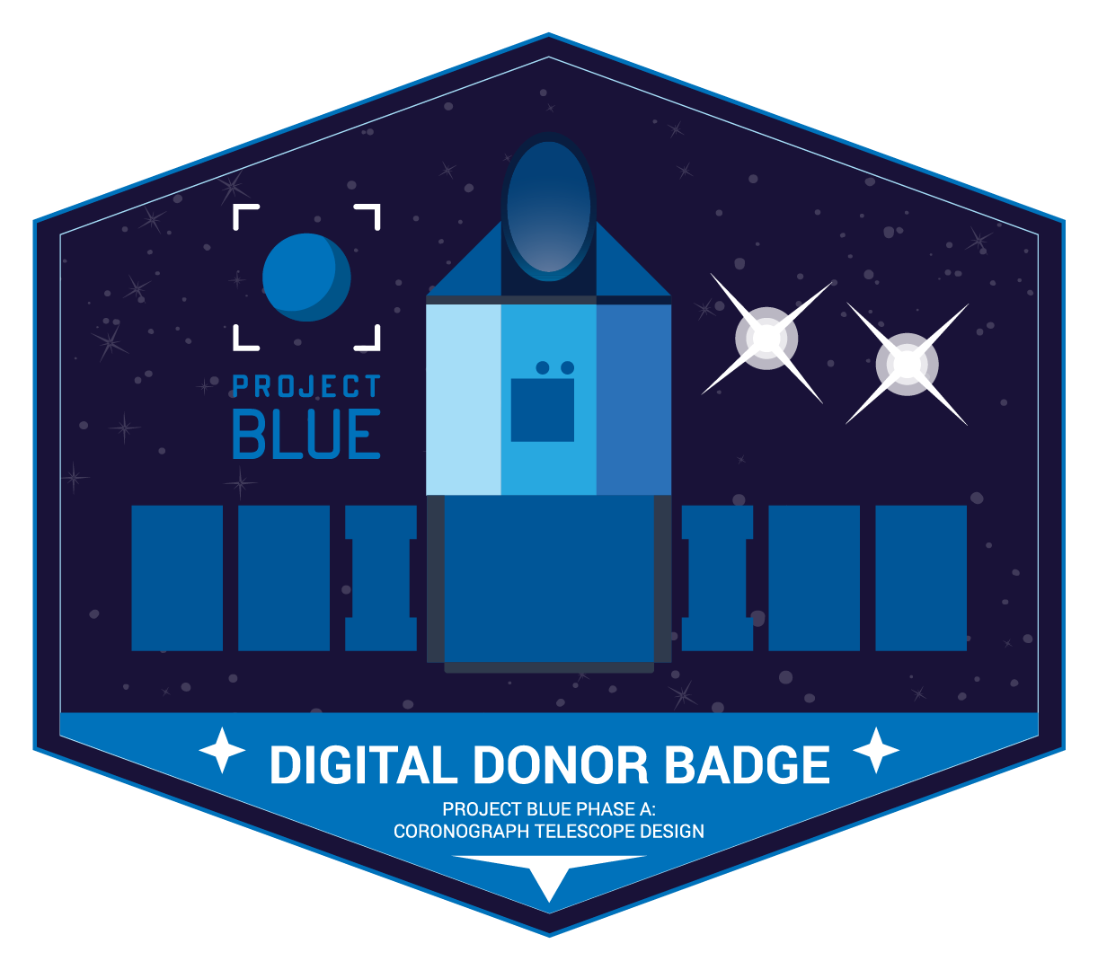 Project Blue Digital Donor Badge