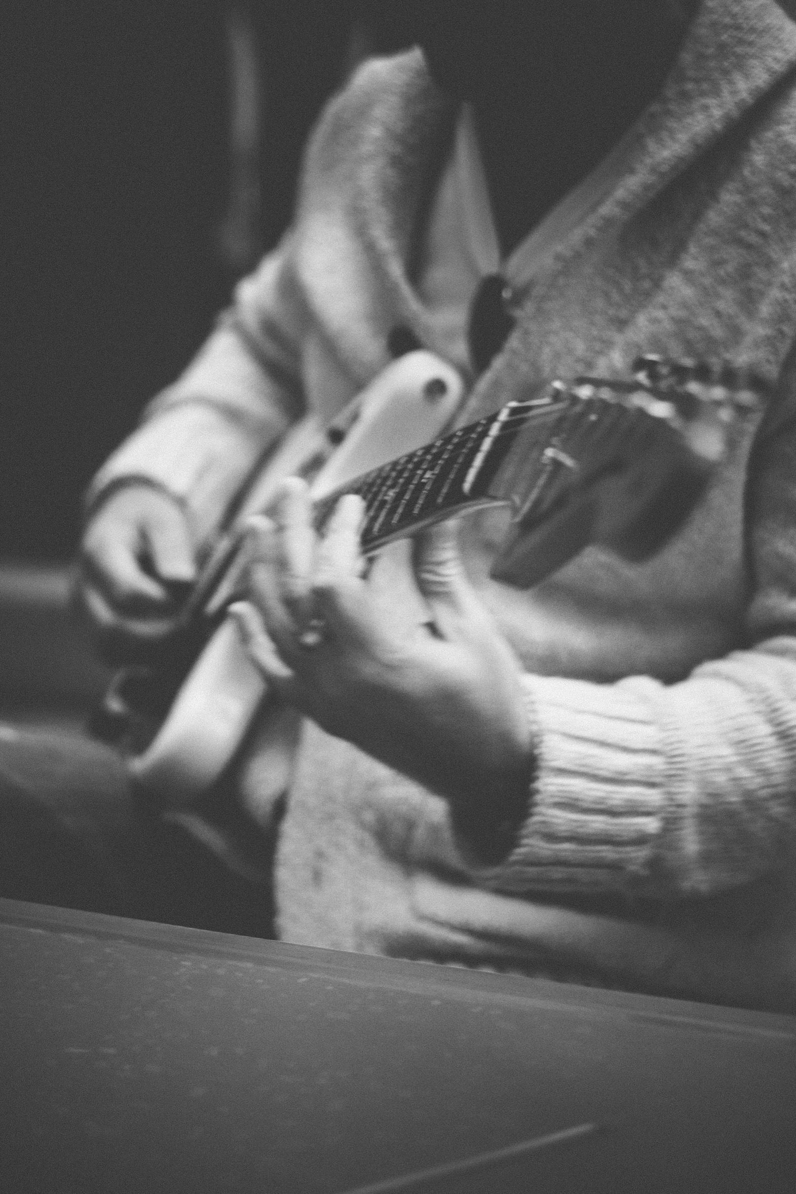 Sergio Gaetani with his Fender Jaguar. Photo by Jessica Reaves