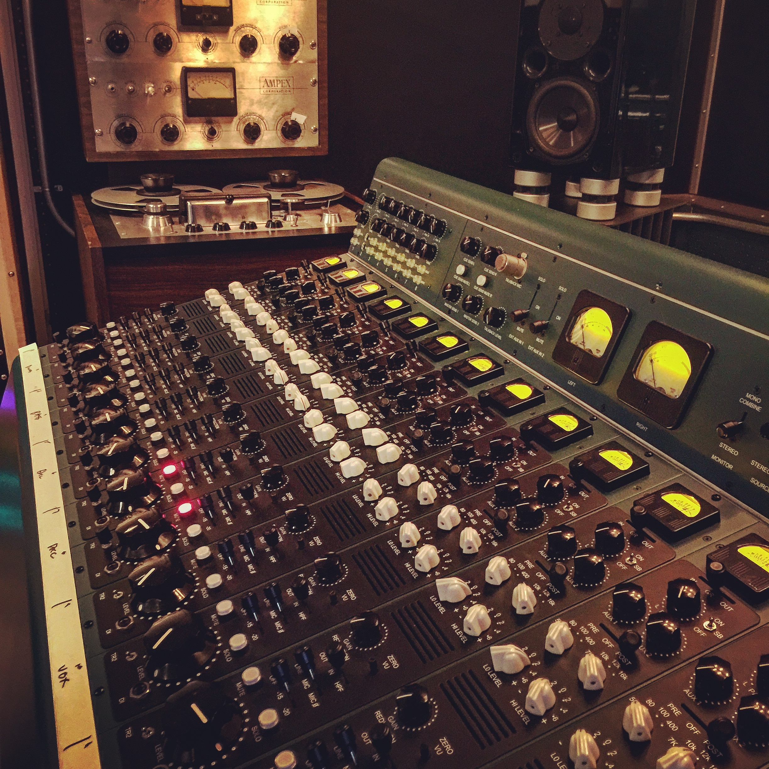 Tree Audio mixing desk at The 45 Factor. Mixed all of Sergio Gaetani's North Coast Electric