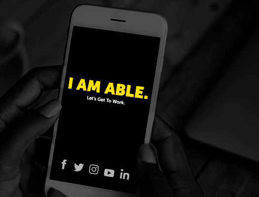 Share your I Am Able button on social media.