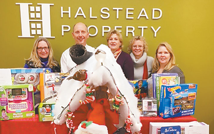 Halstead Wilton Agents Collect Gifts for Inspirica     Dec. 2016 - Wilton Bulletin