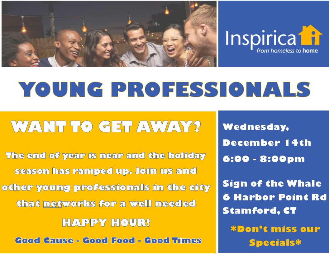 CALLING ALL YOUNG PROS - Join us Wednesday, December 14 @ Sign of the Whale!