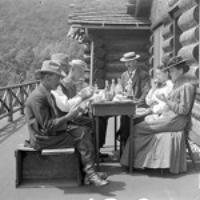 Dinner at Clark's Lodge, Mt. Tabor, Vt.