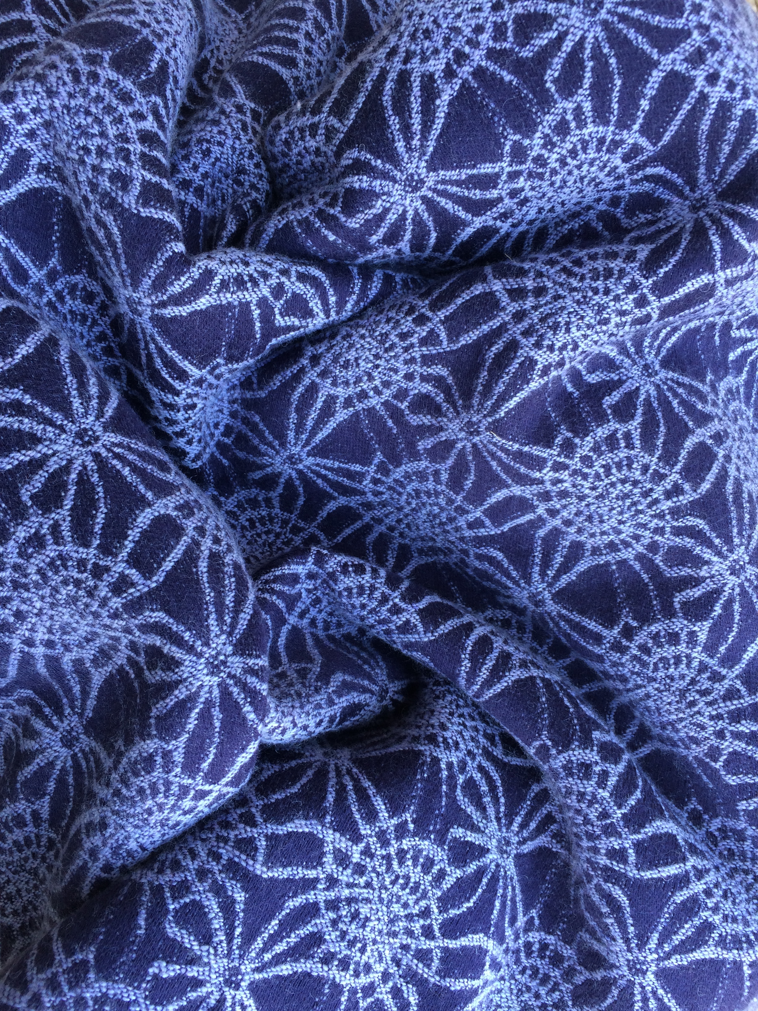 Lambswool goodness - Firespiral Grape Twilight Fractals