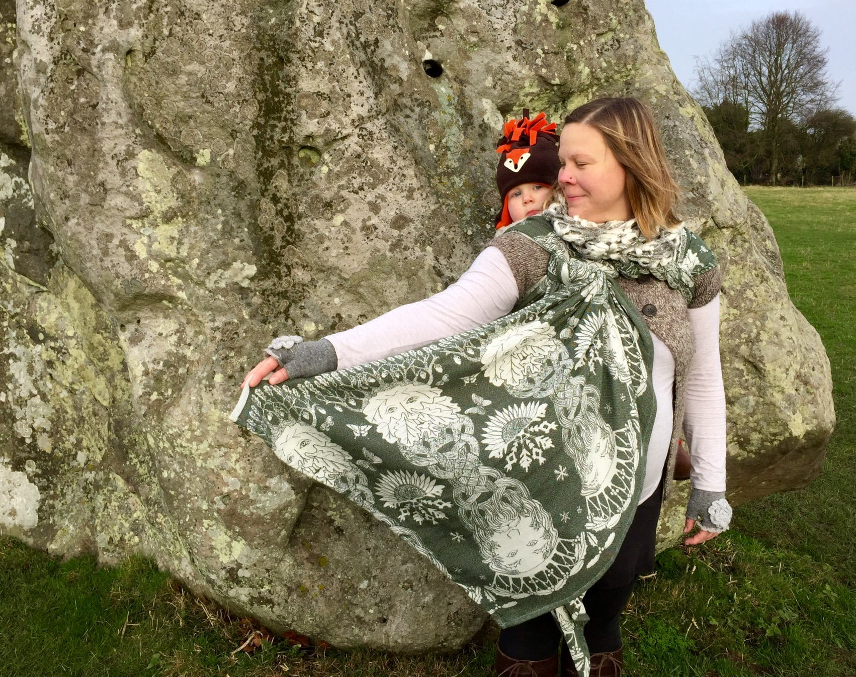 Winter Solstice at Avebury with Baie's Oak & Holly King