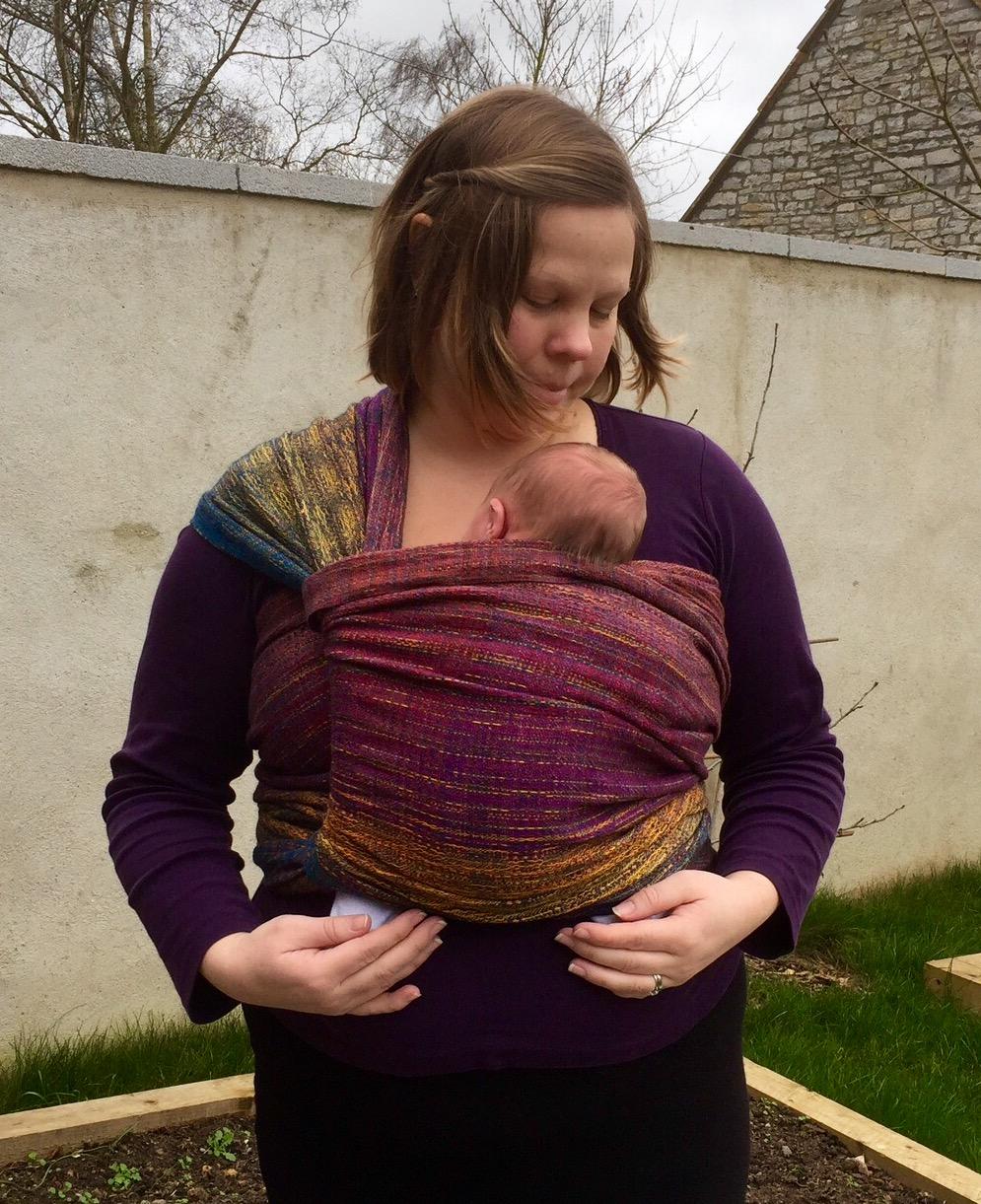 Little Fellows 'After Autumn Must Come...' LF313 Handwoven Carrying a Newborn
