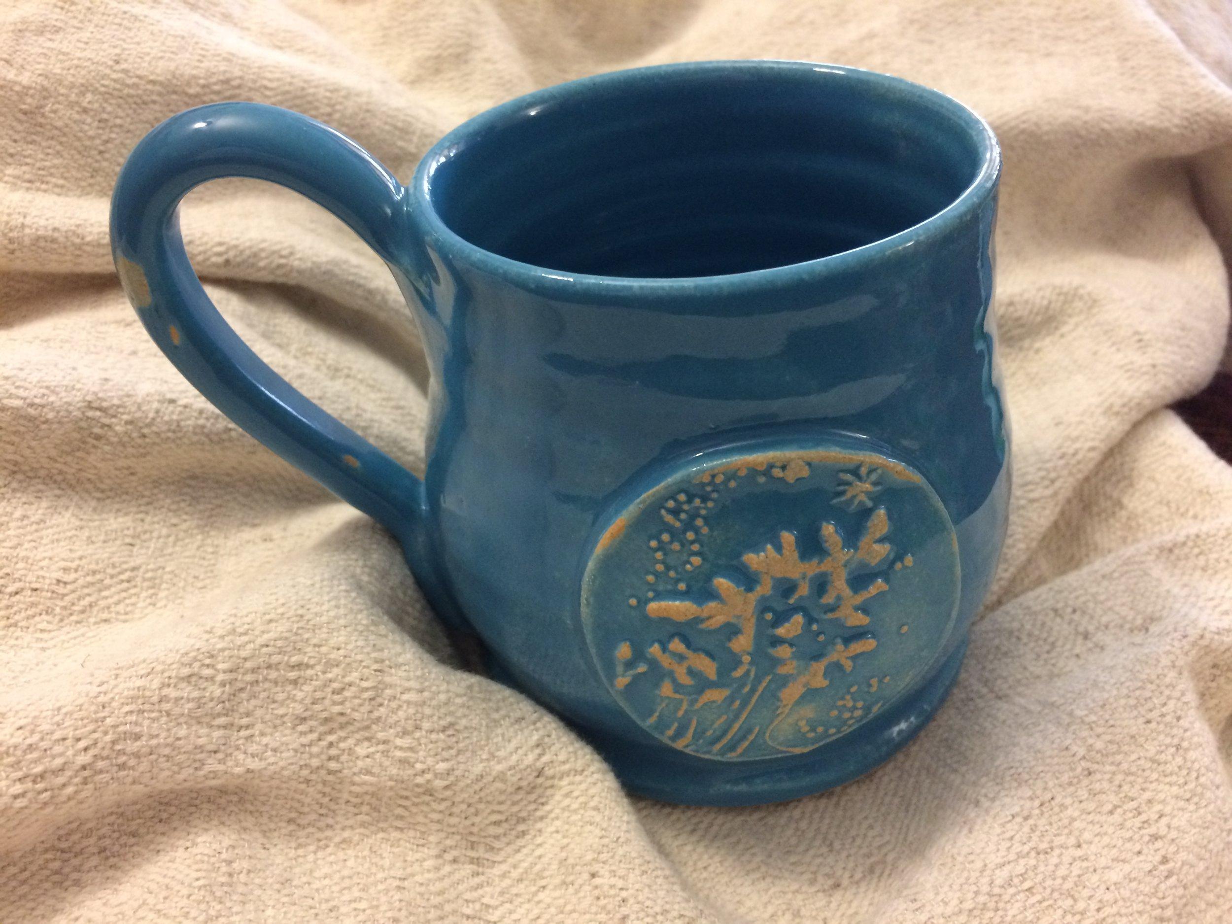 My new Firespiral Seafoam mug and a new serendipitous natty creation!