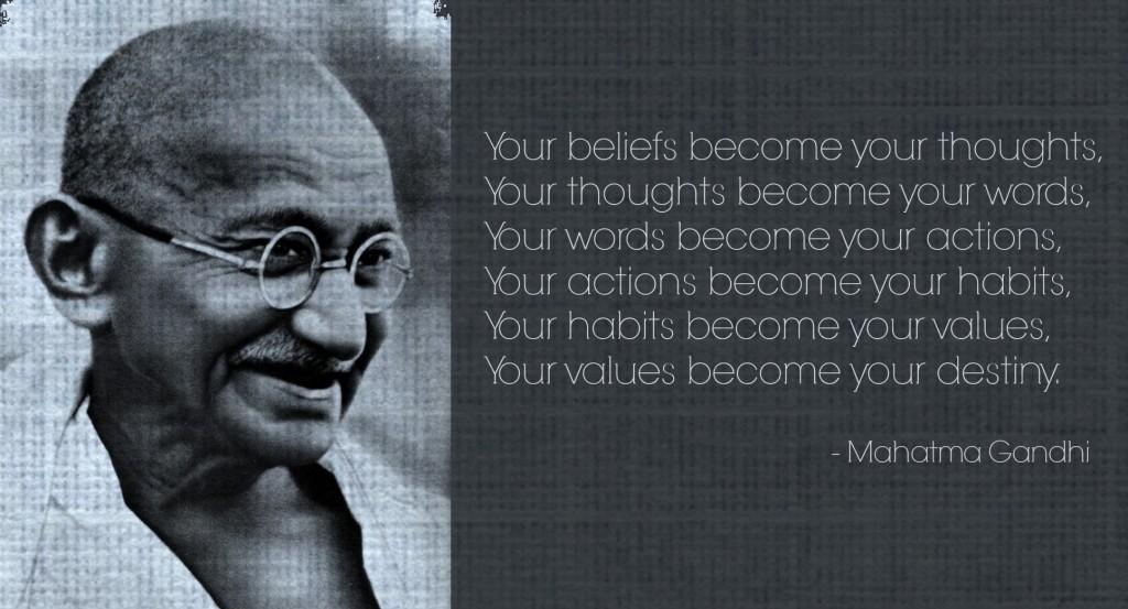 Gandhi smiling quote