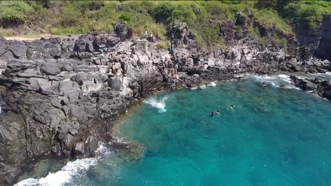 View of jump from our friend's drone