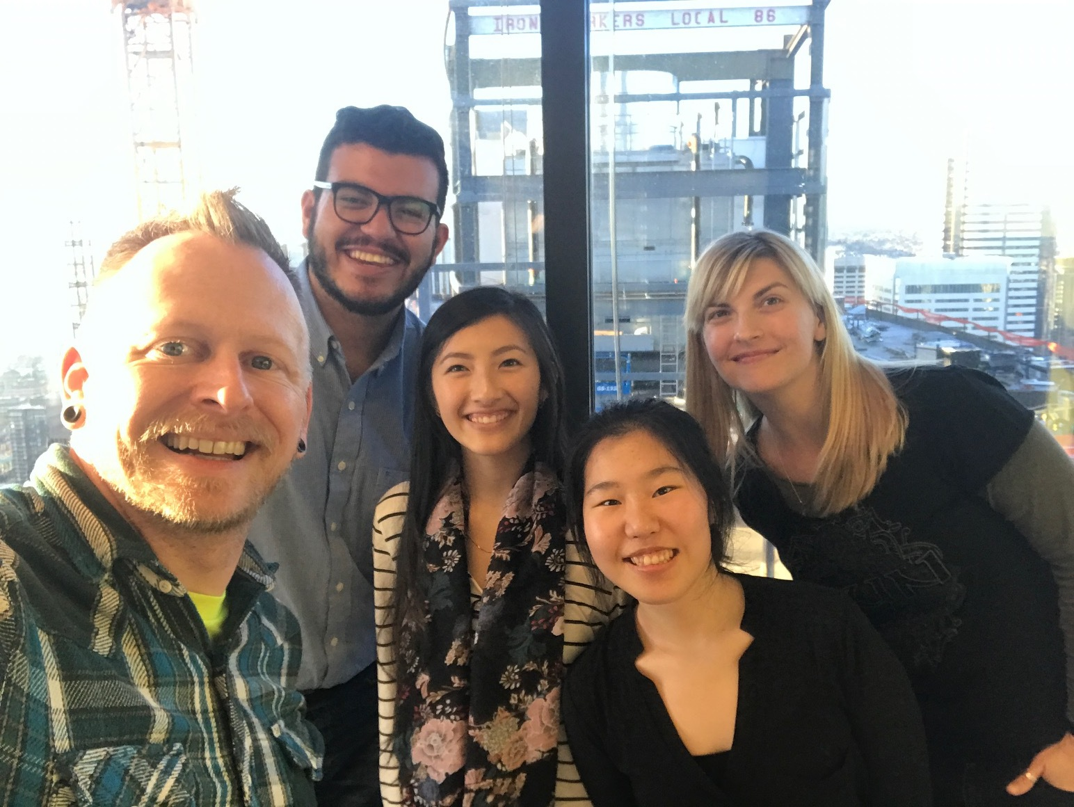 With Microsoft Outlook Design Research team, at Microsoft Insight Studio (Feb 14, 2017, downtown Seattle)