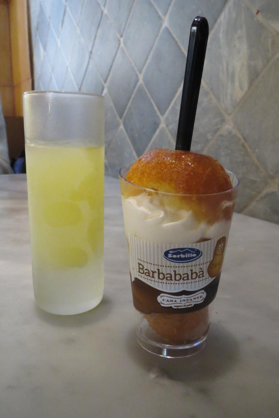 Limoncello & baba'....what else? at Sorbillo, Via dei Tribunali, 32, 80138.