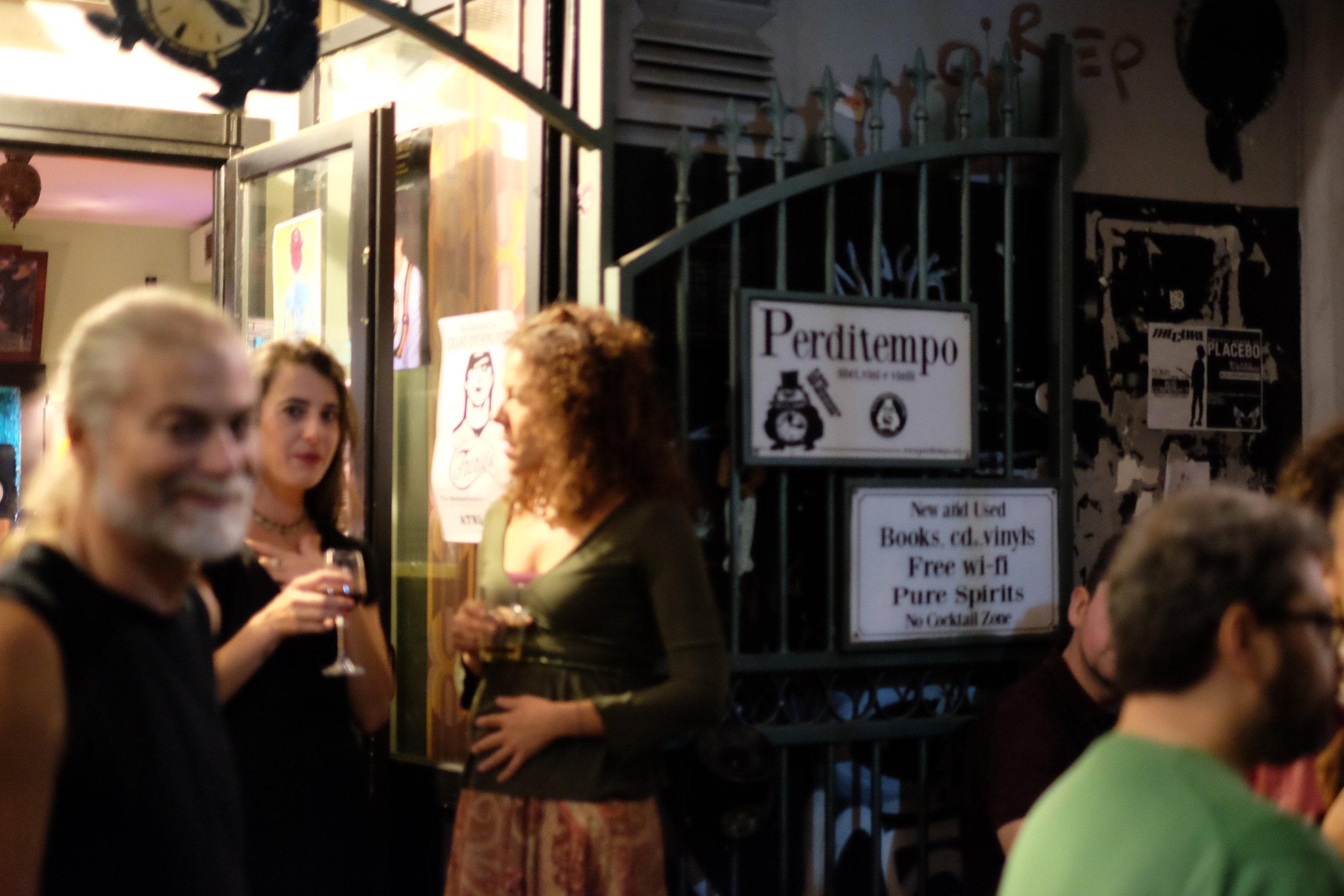 Book shop in the daytime, bar at night, Perditempo, Vico S. Pietro a Maiella, 8, 80138.
