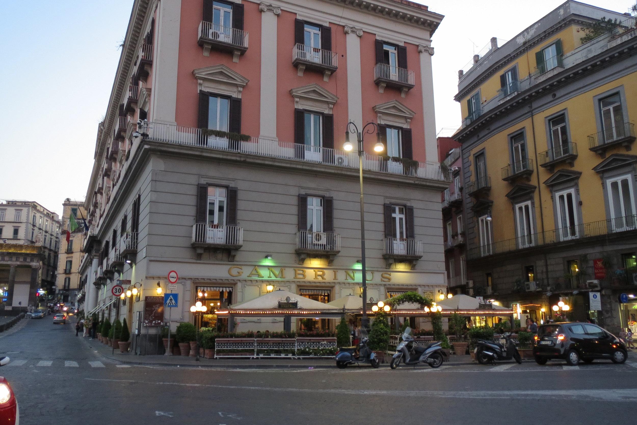 The caffe' Gambrinus, via Chiaia 1/2, 80132.