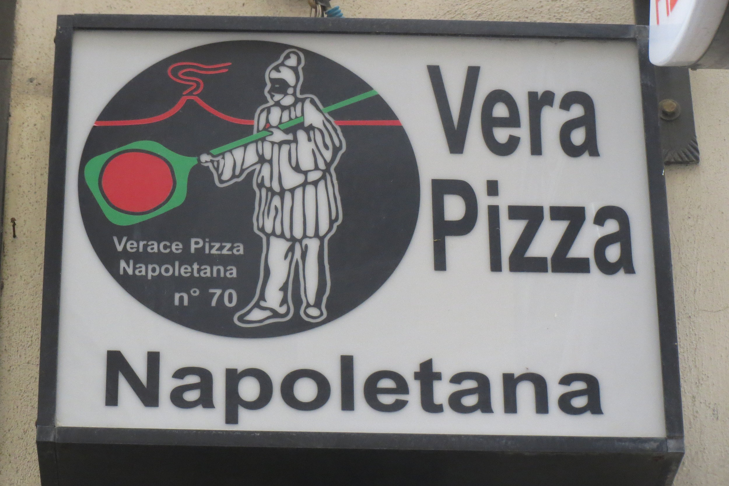 The sign of the association for the real Neapolitan pizza.