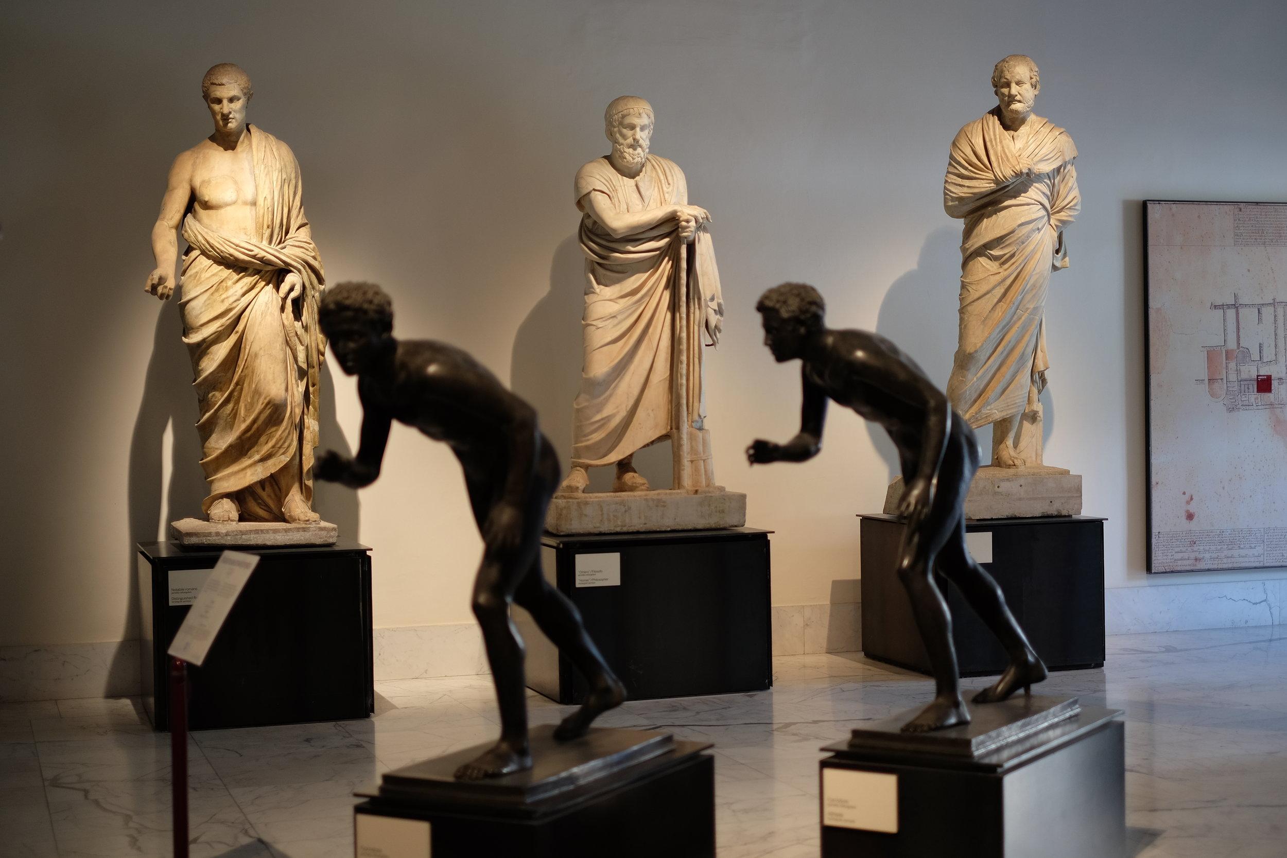Philosophers and athletes from the Villa dei Papiri.