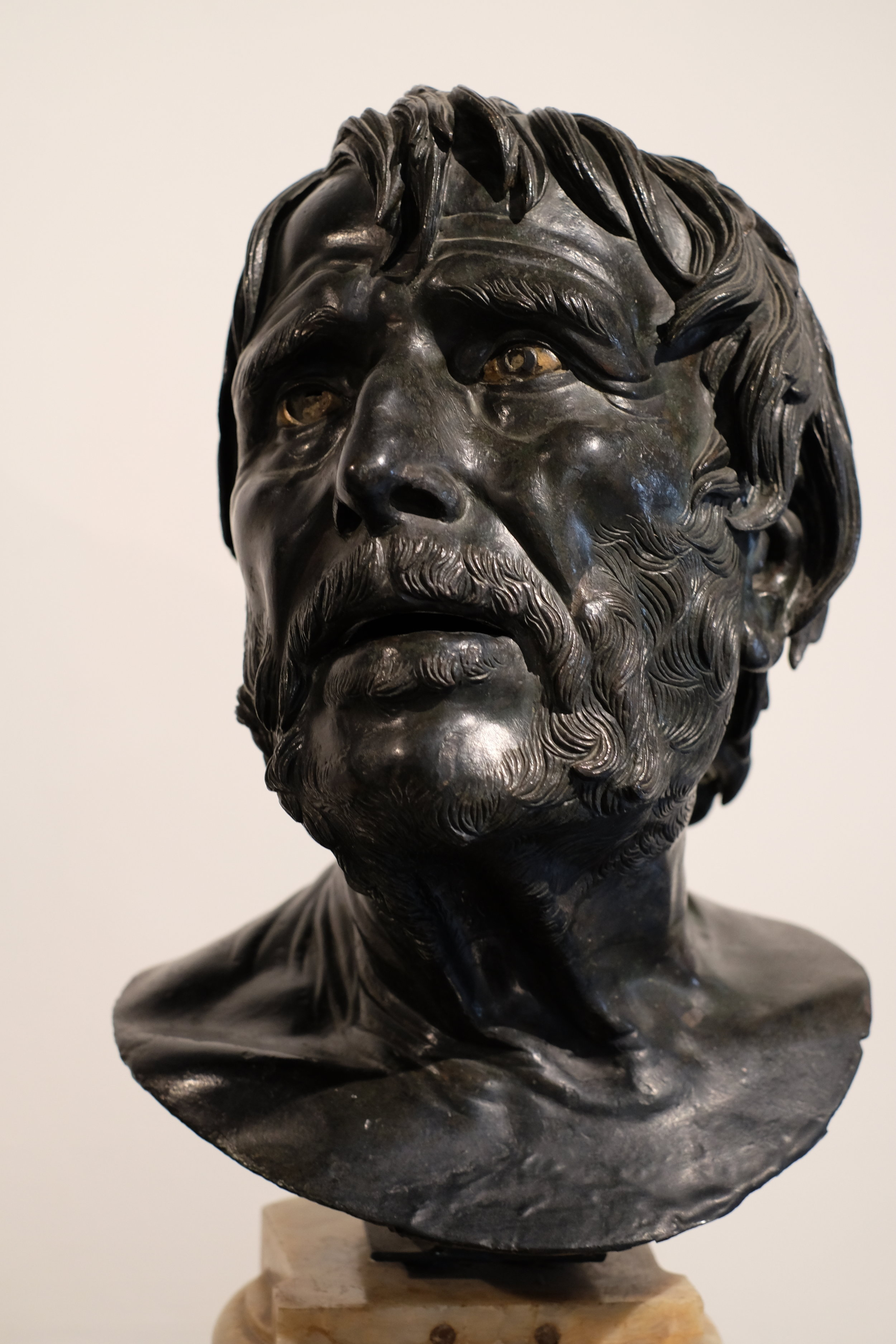The intense and dramatic bust of Seneca.