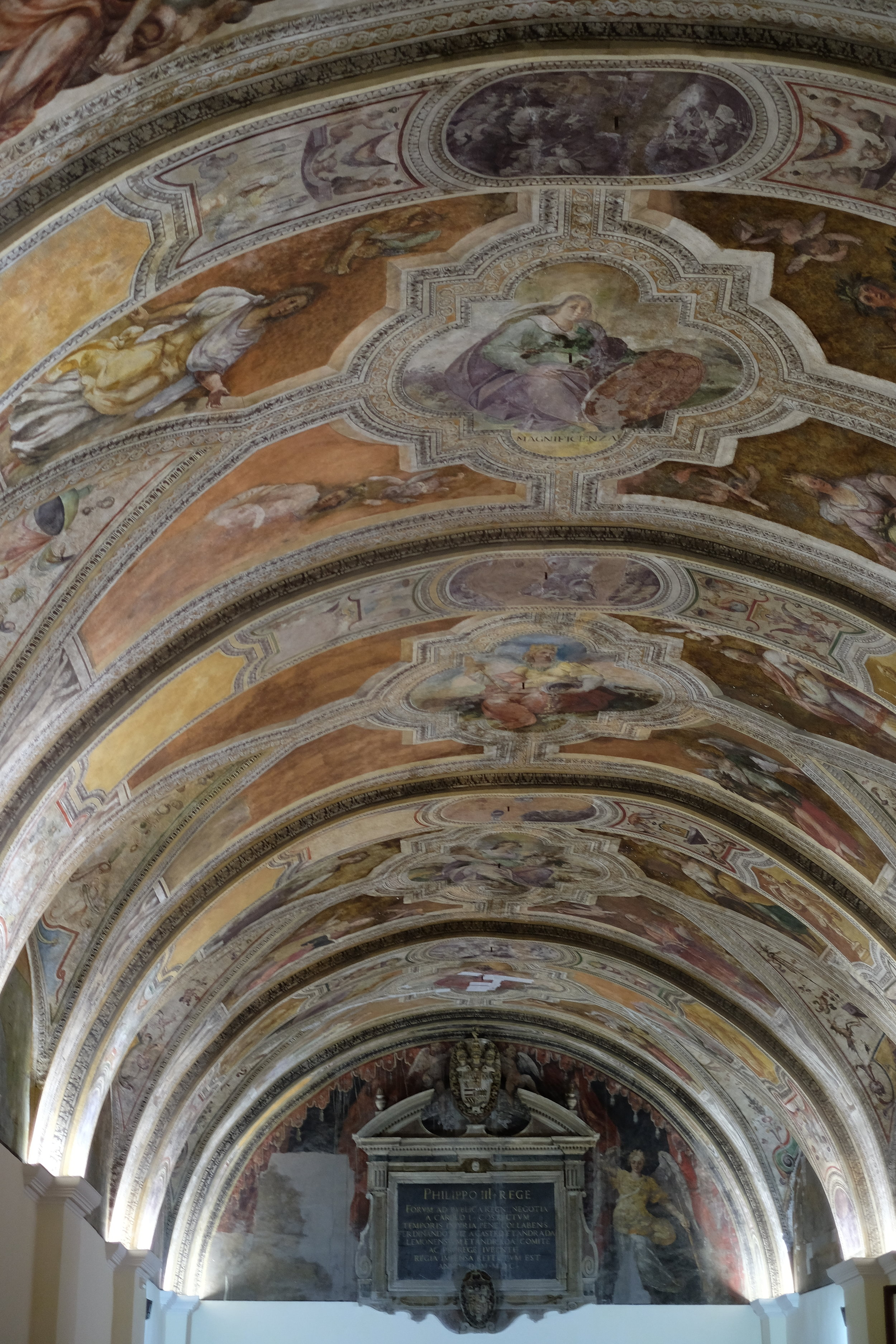 The frescoes in the Pope Sisto V Hall.