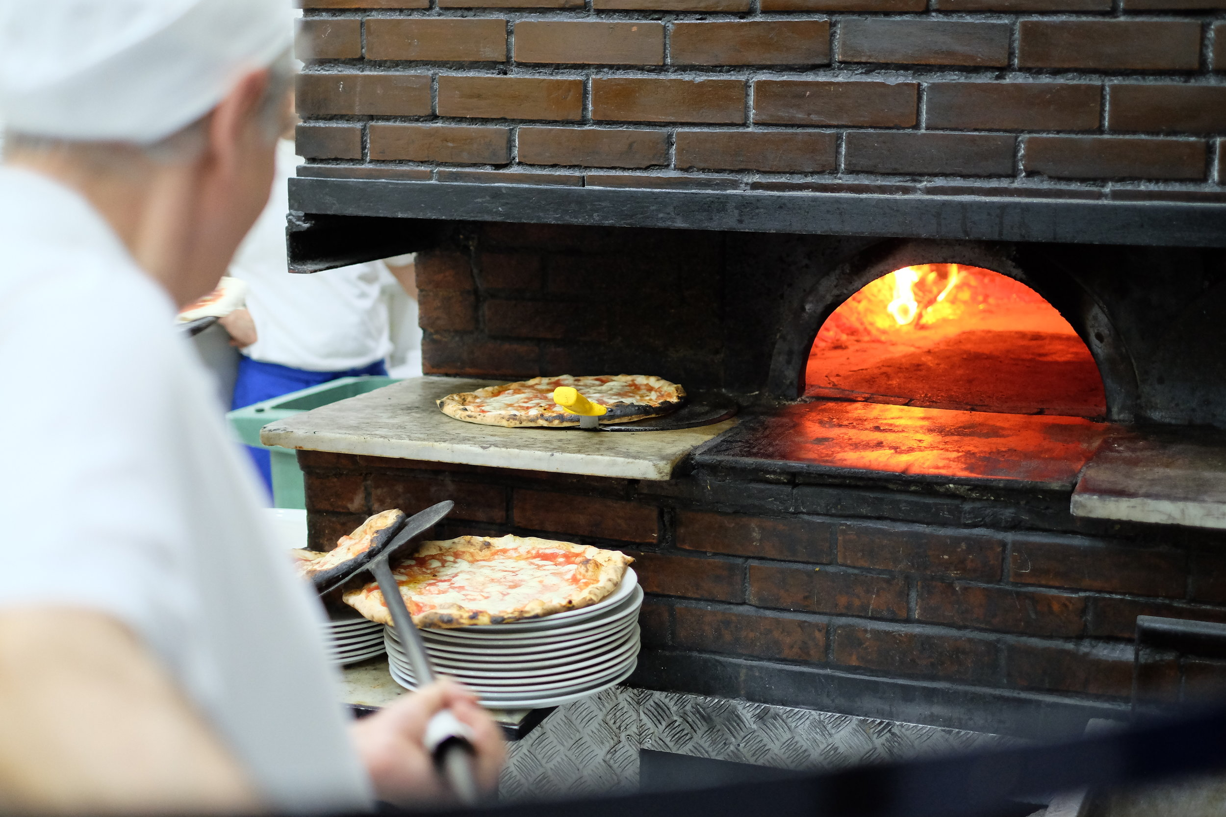 The pizza oven in Napoli.