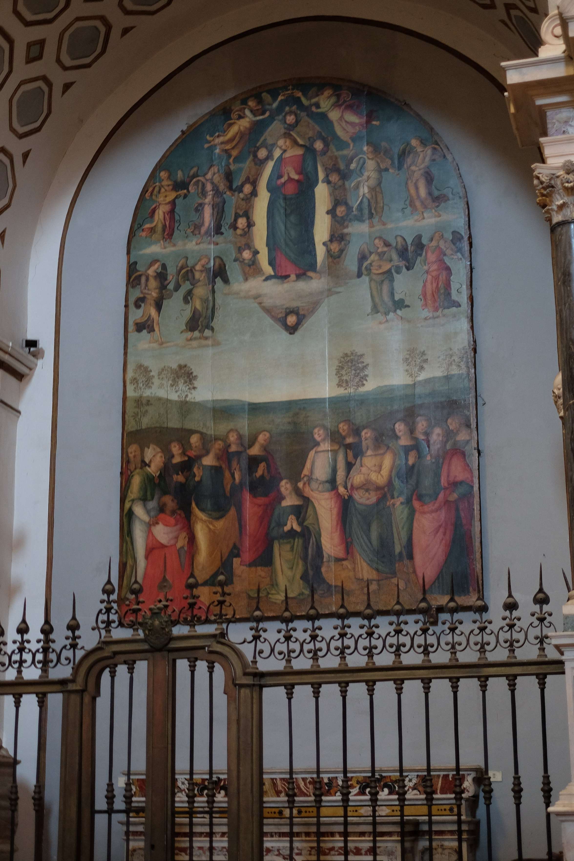The altarpiece  Our Lady of Assumption  by Perugino.