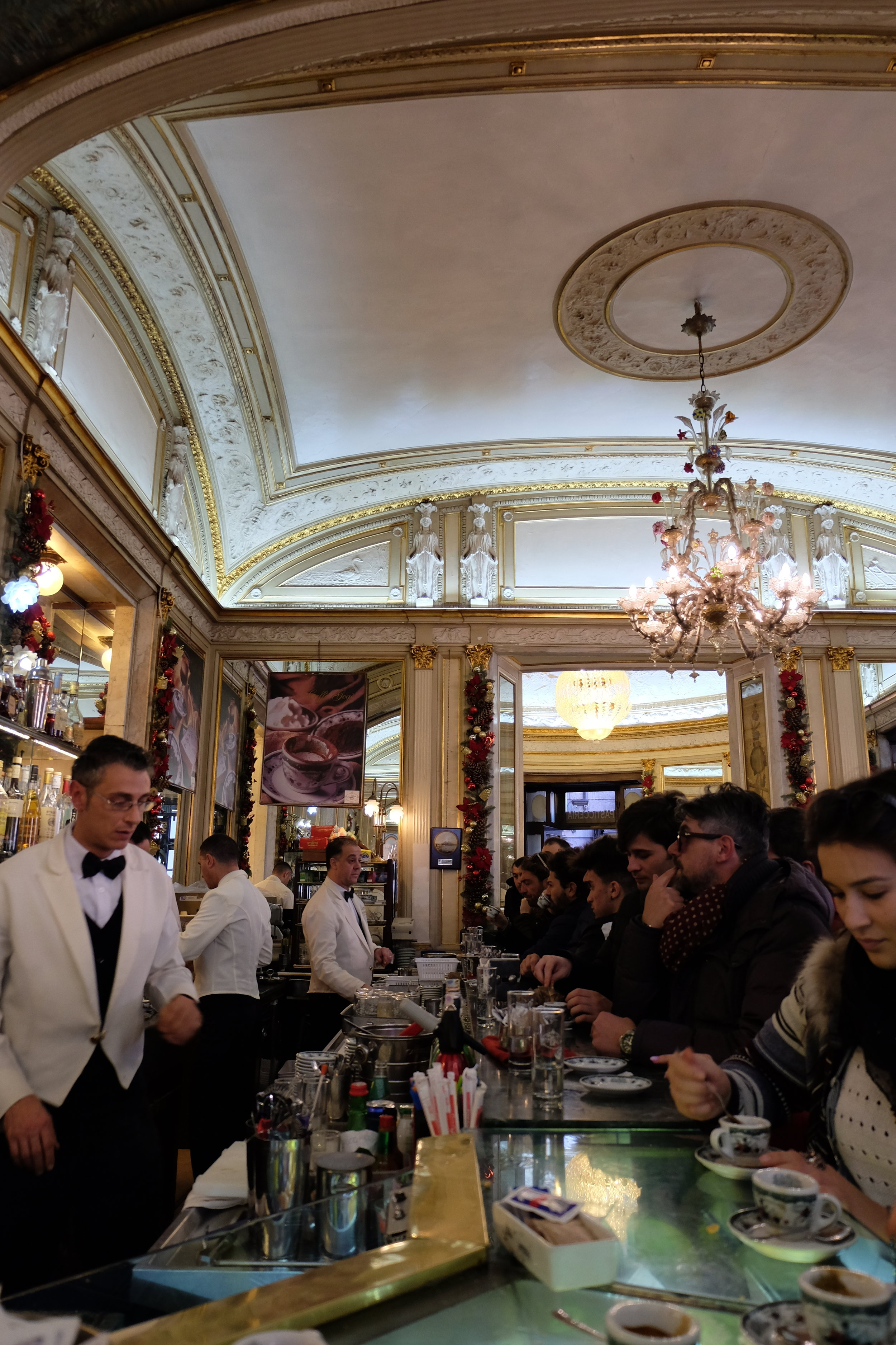 A real Neapolitan caffè at the Gambrinus is always a treat.