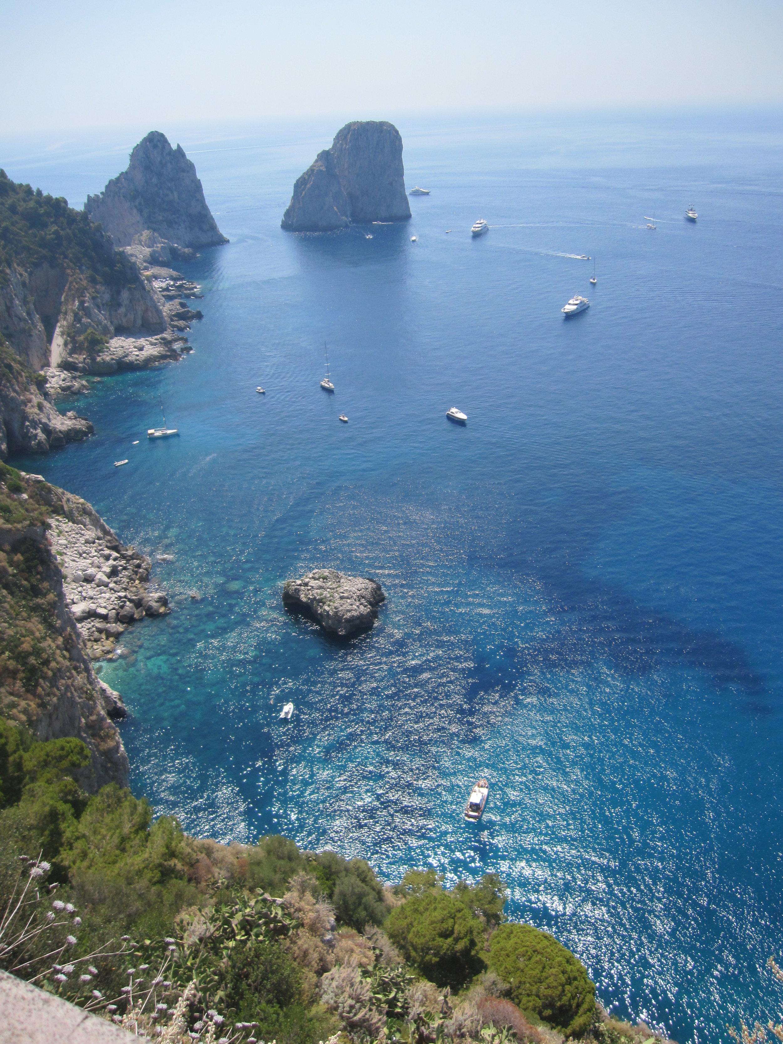 View from I Faraglioni.