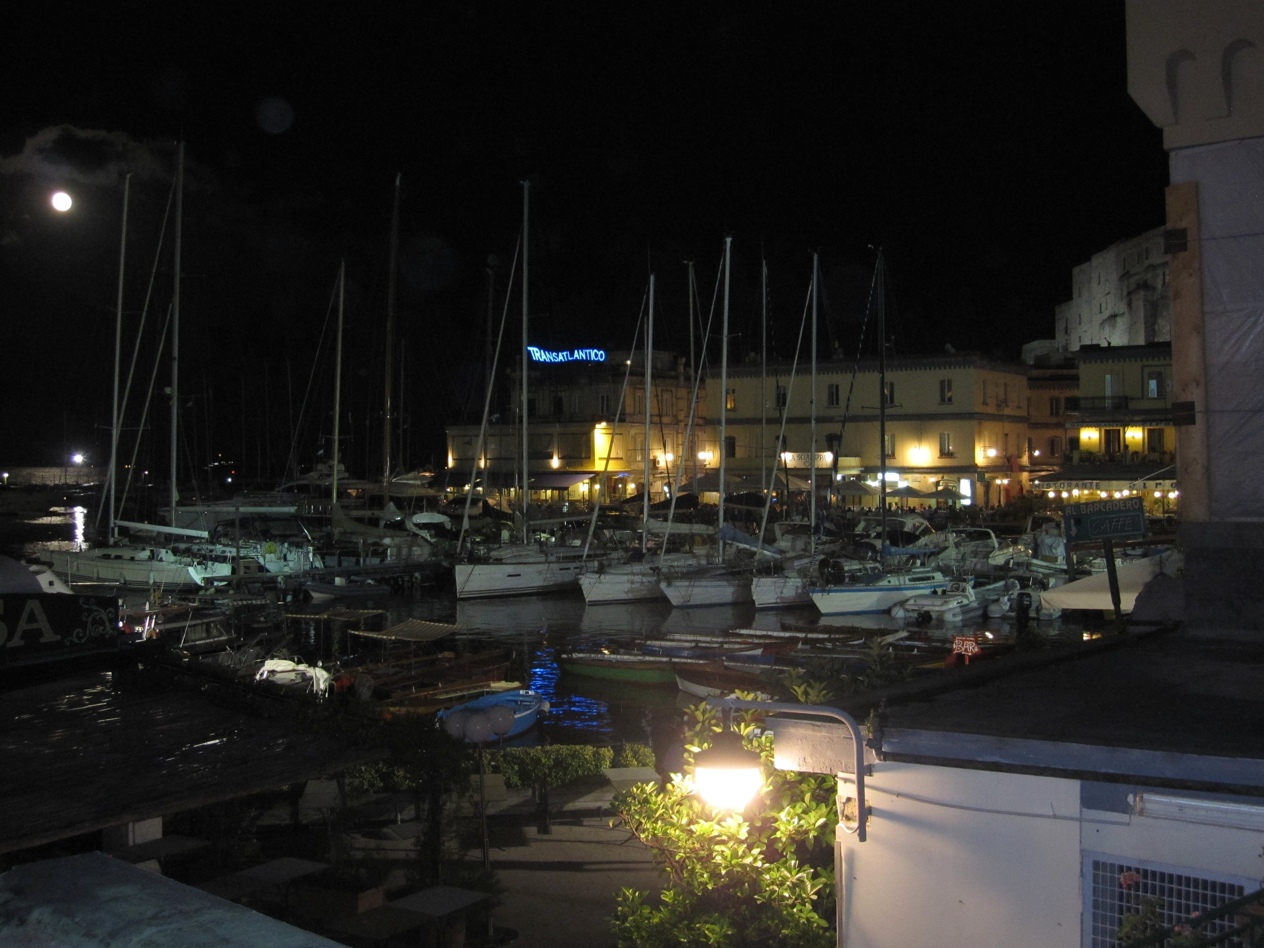 The area around the Castle is called  Borgo Marinari  and it is full of nice bars and restaurants.