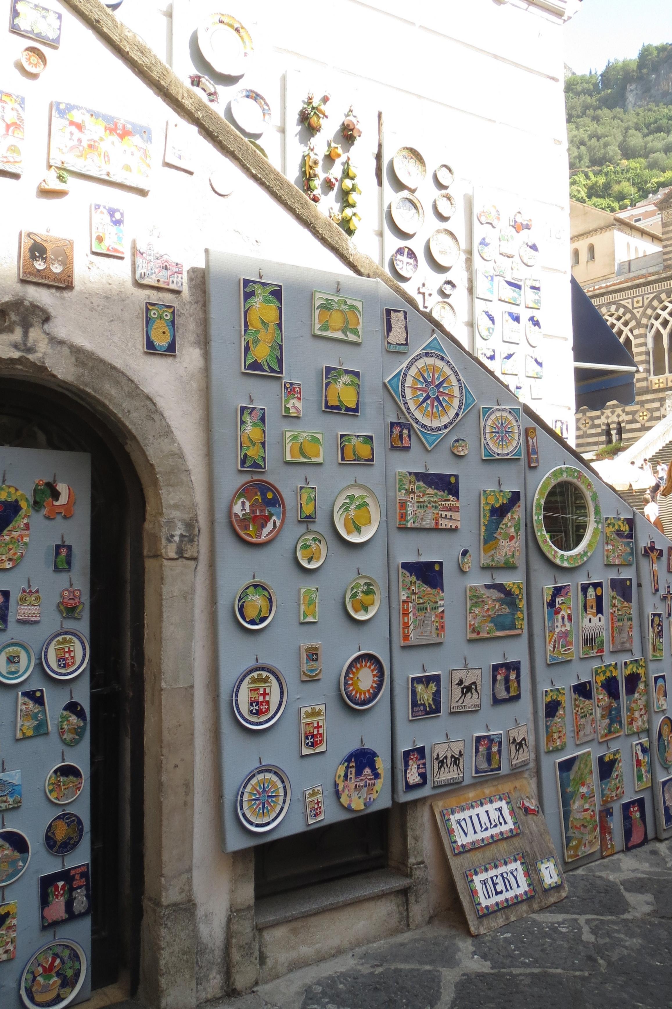 Typical Amalfi ceramics.