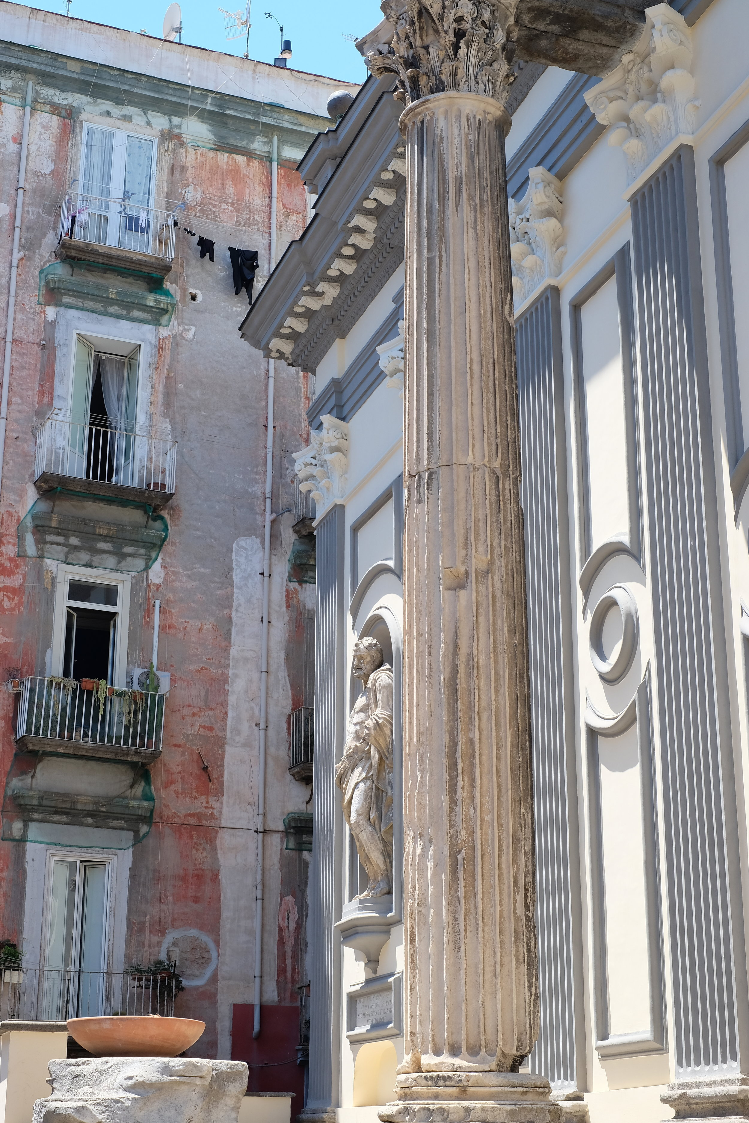 Rests of the the Corinthian columns.