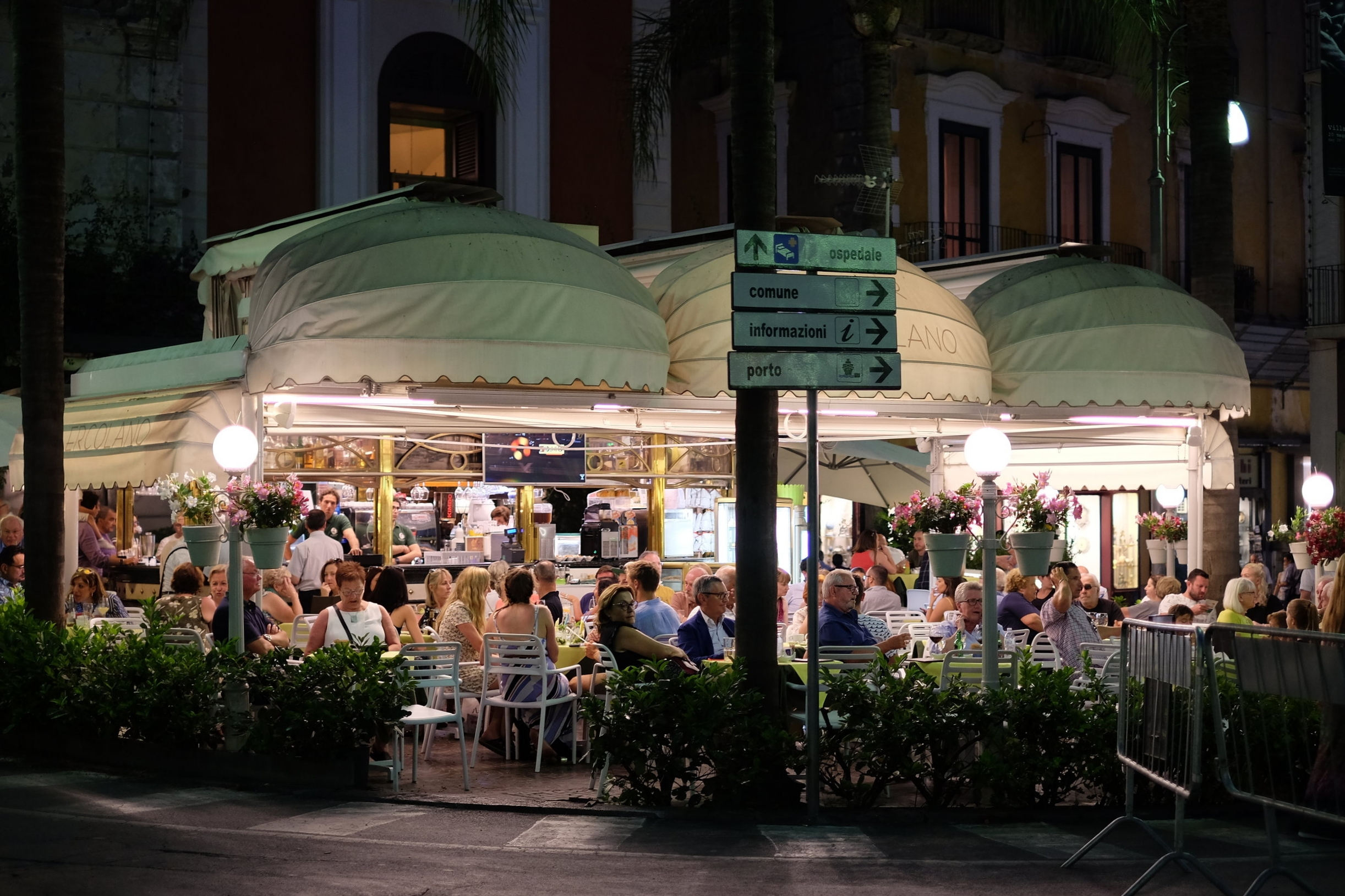 Bar Ercolano. Both bar are in Piazza Tasso.