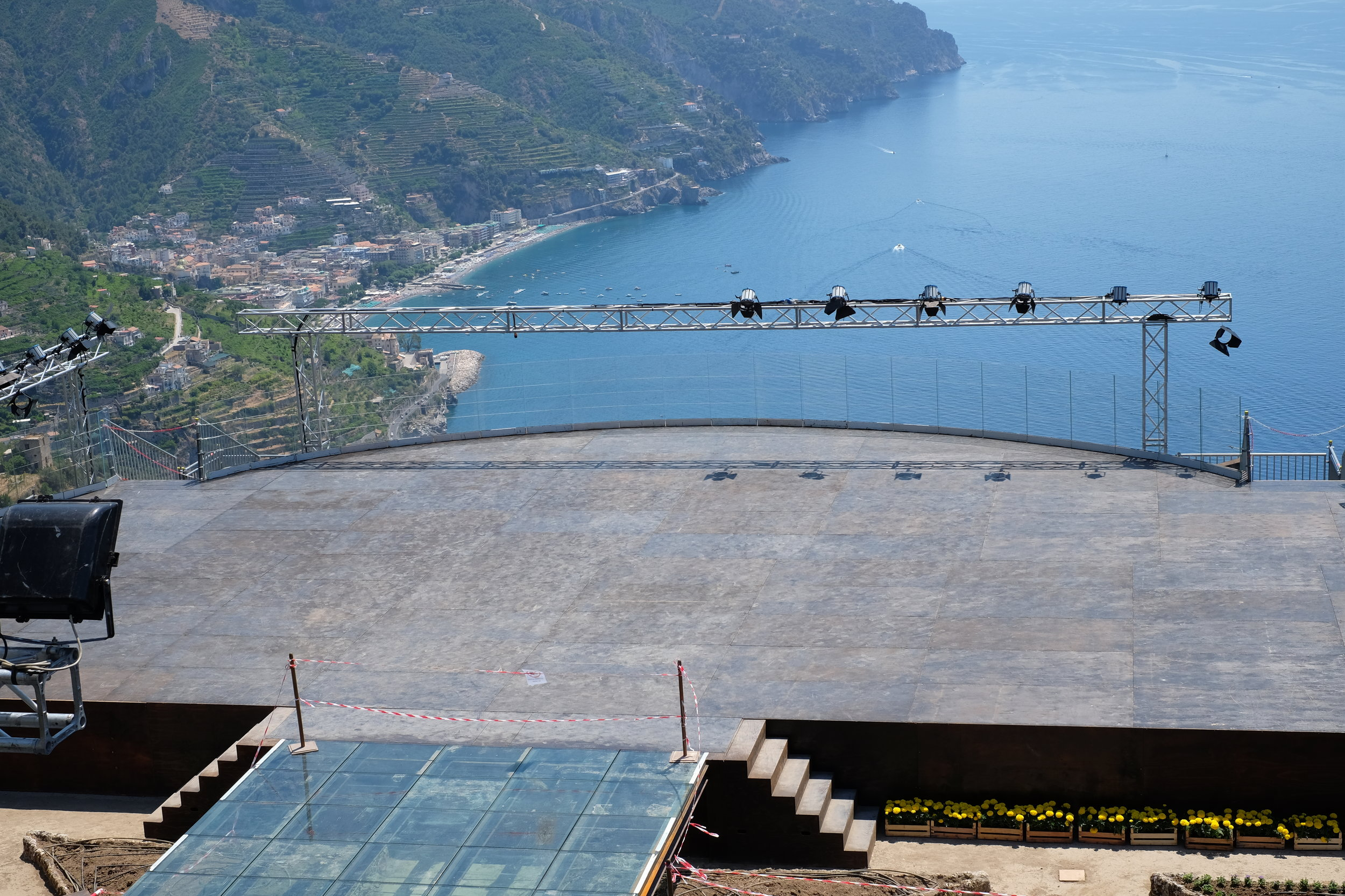 The stage with breathtaking view.