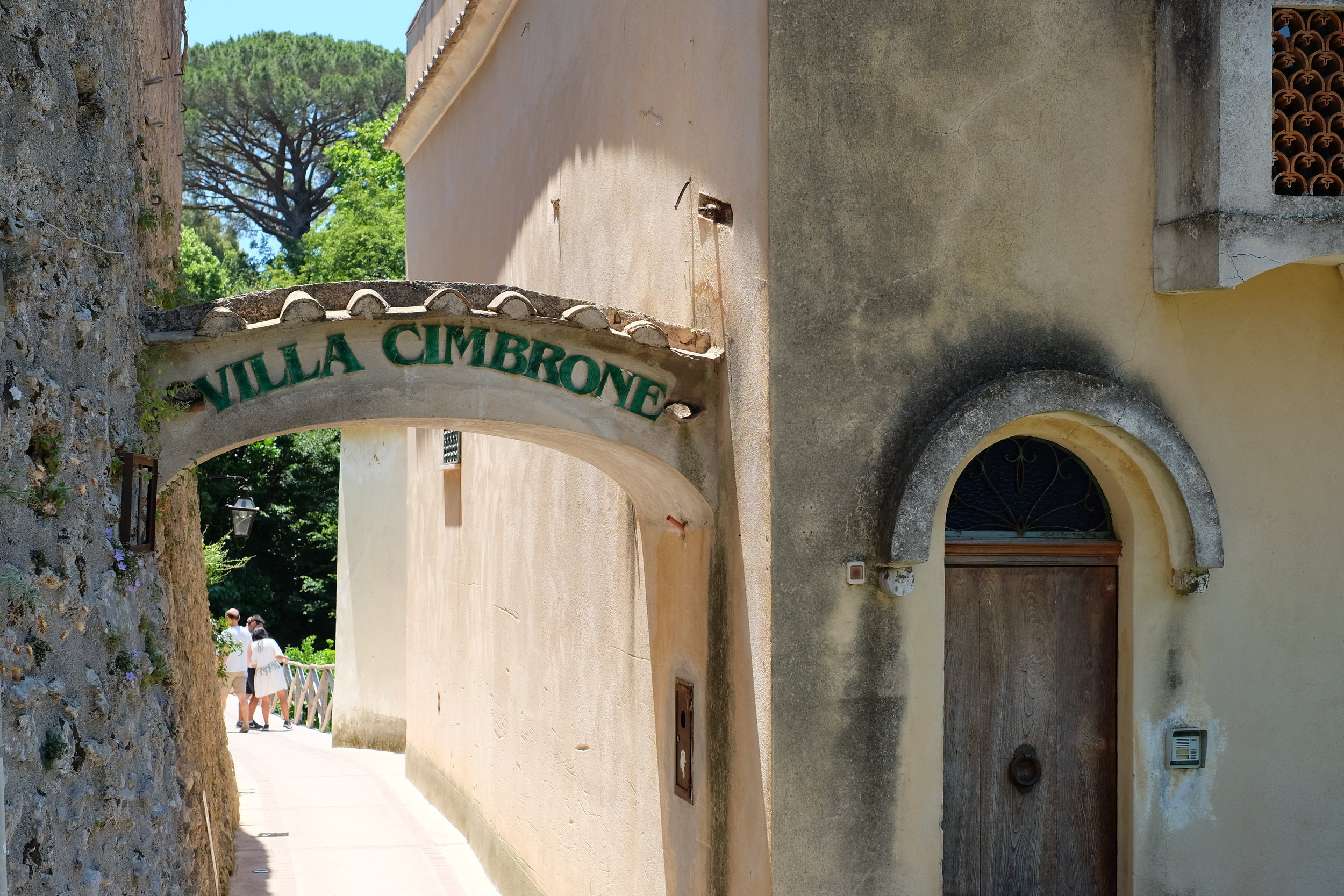 Entrance to Villa Cimbrone.